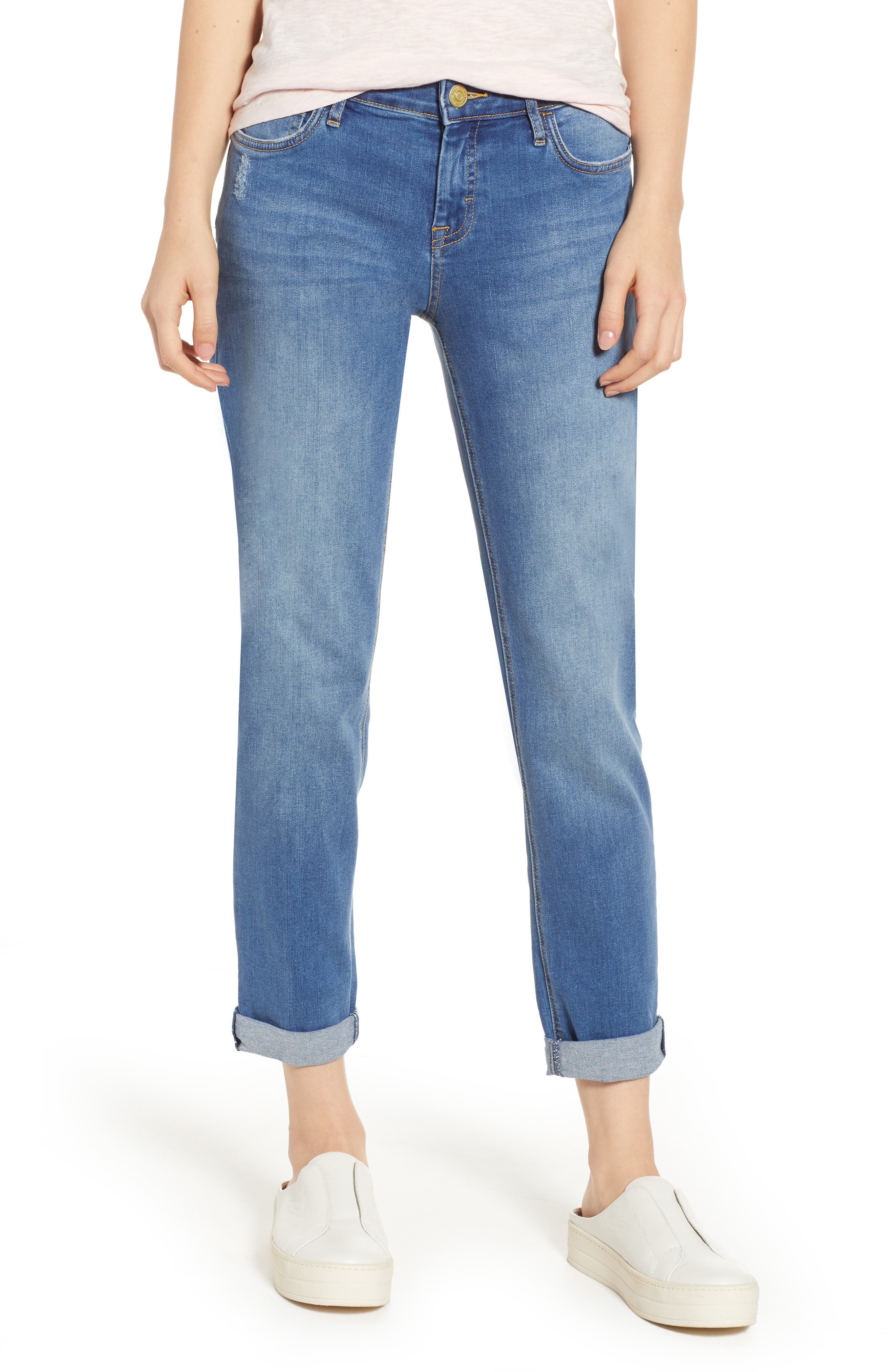 TOMMY BAHAMA Tema Slim Boyfriend Jeans, Main, color, DARK INDIGO WASH