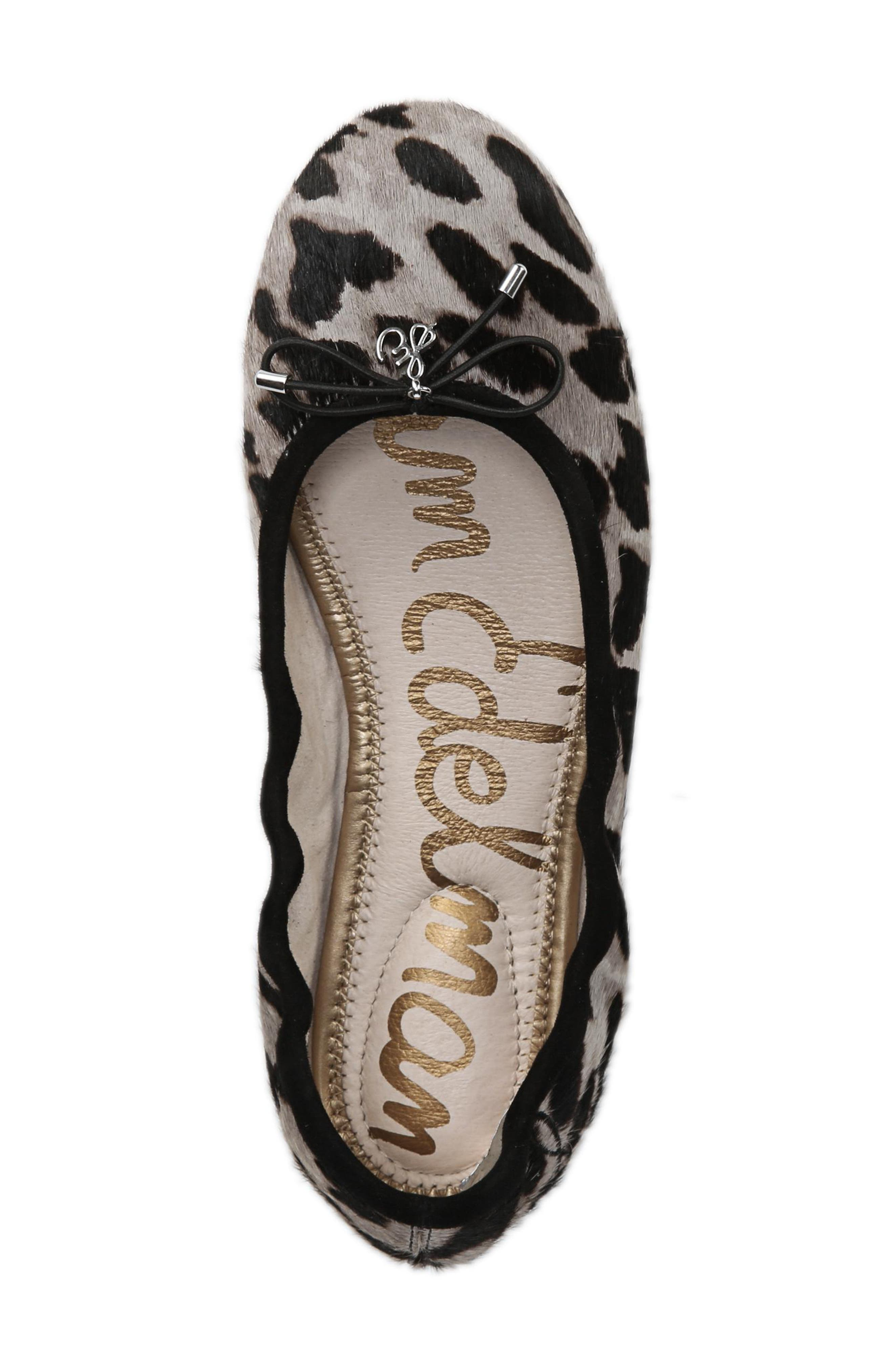 SAM EDELMAN, Felicia Flat, Alternate thumbnail 5, color, CLOUDED LEOPARD BRAHMA HAIR