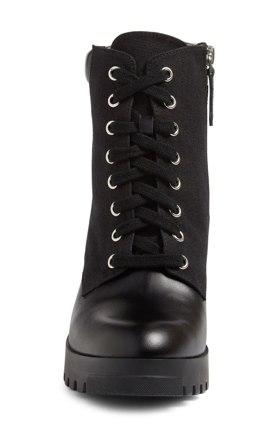 BP., Madison Lace-Up Boot, Alternate thumbnail 3, color, 001