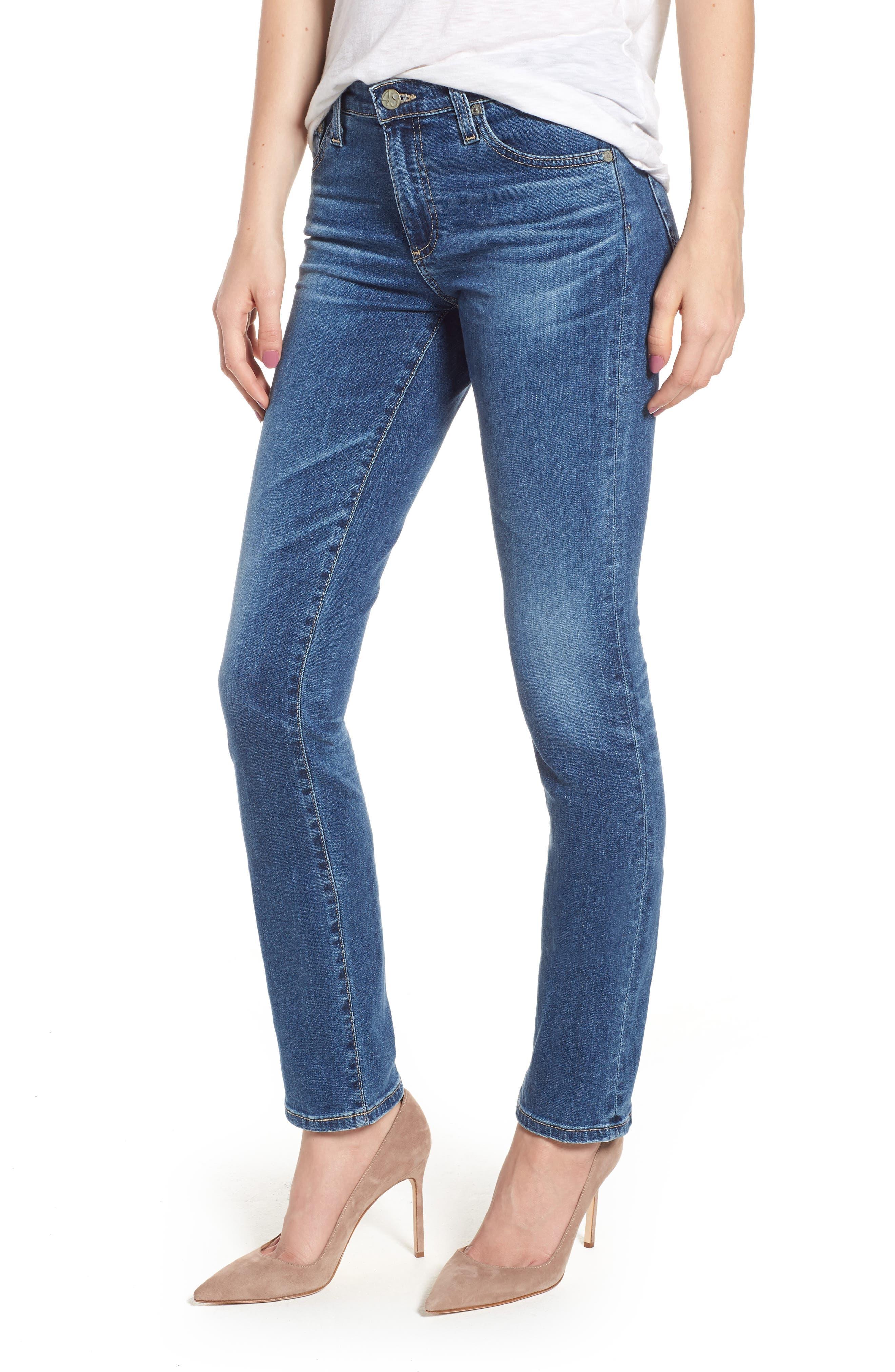 AG, Harper Slim Straight Leg Jeans, Main thumbnail 1, color, 10 YEARS CAMBRIA