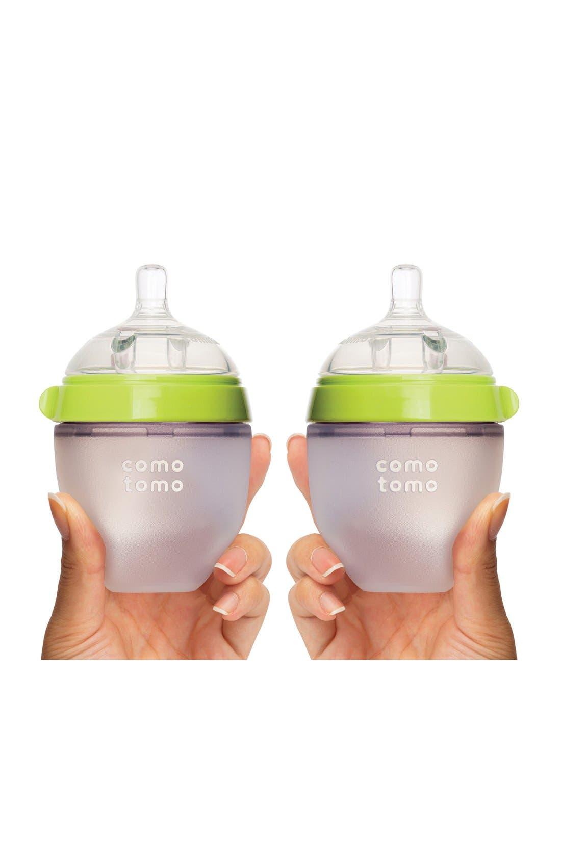 COMOTOMO, Baby Slow Flow Bottles, Alternate thumbnail 2, color, GREEN