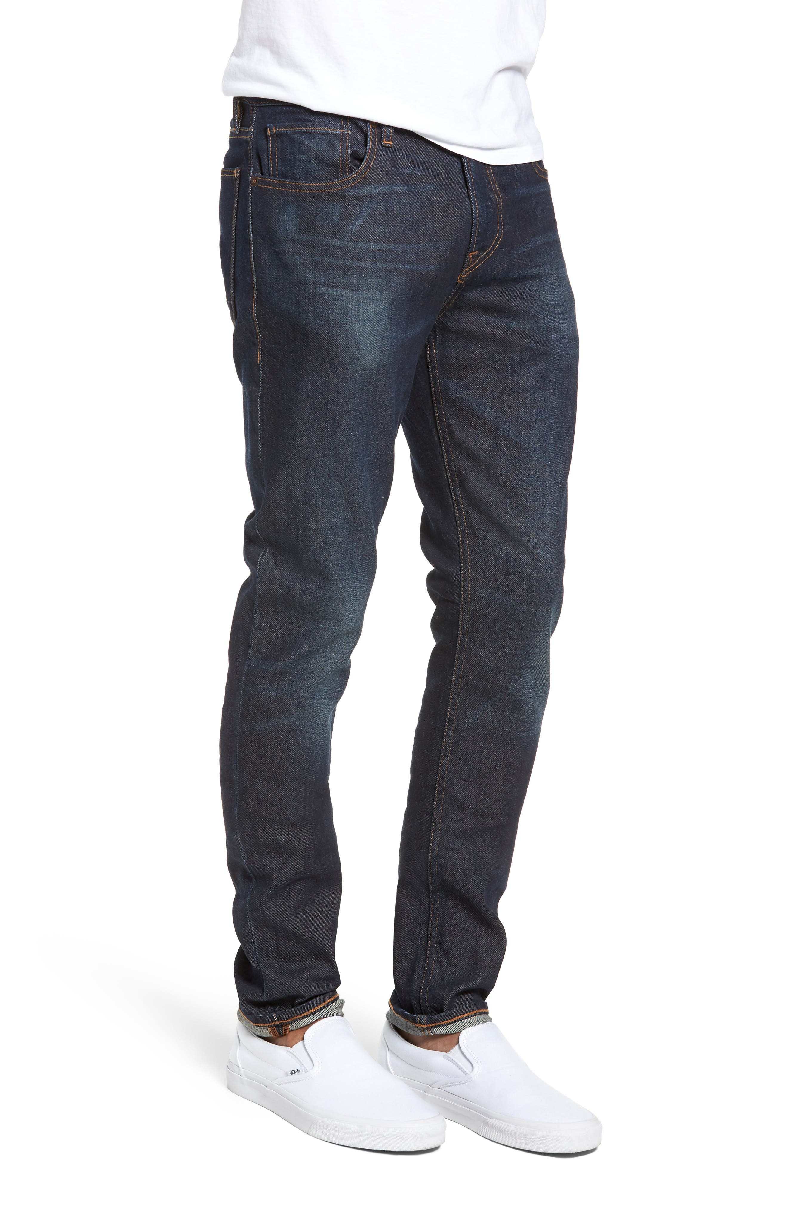 HUDSON JEANS, Axl Skinny Fit Jeans, Alternate thumbnail 3, color, VERKLER