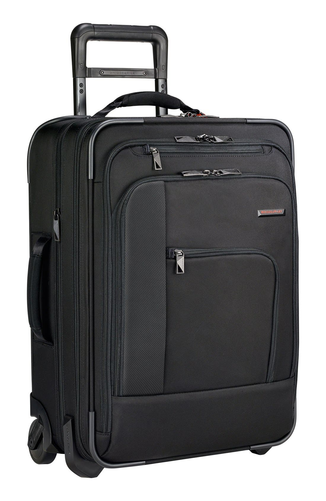 BRIGGS & RILEY 'Verb - Pilot' Rolling Carry-On, Main, color, BLACK