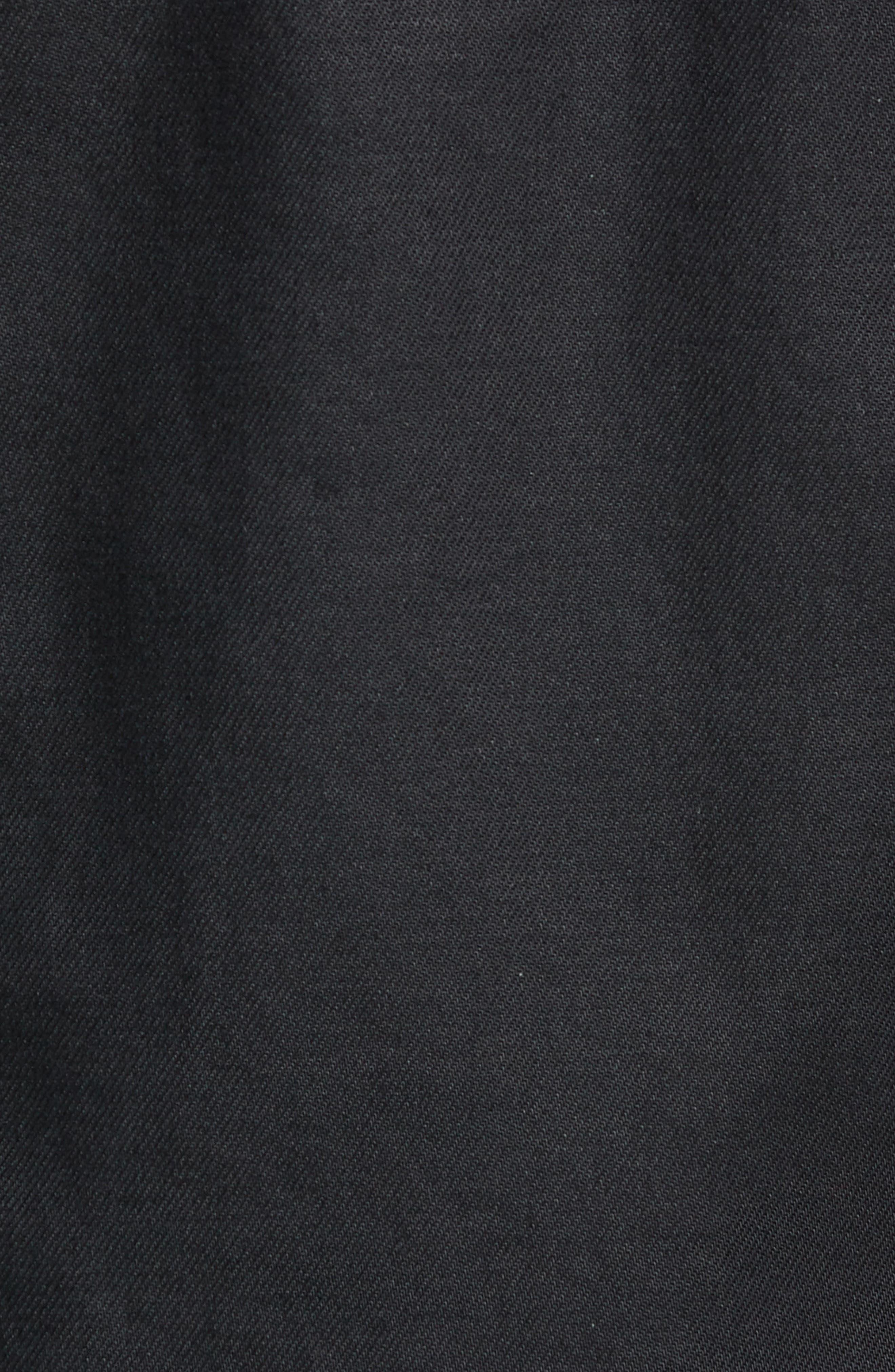 HUDSON JEANS, Zip Denim Jacket, Alternate thumbnail 6, color, ONYX
