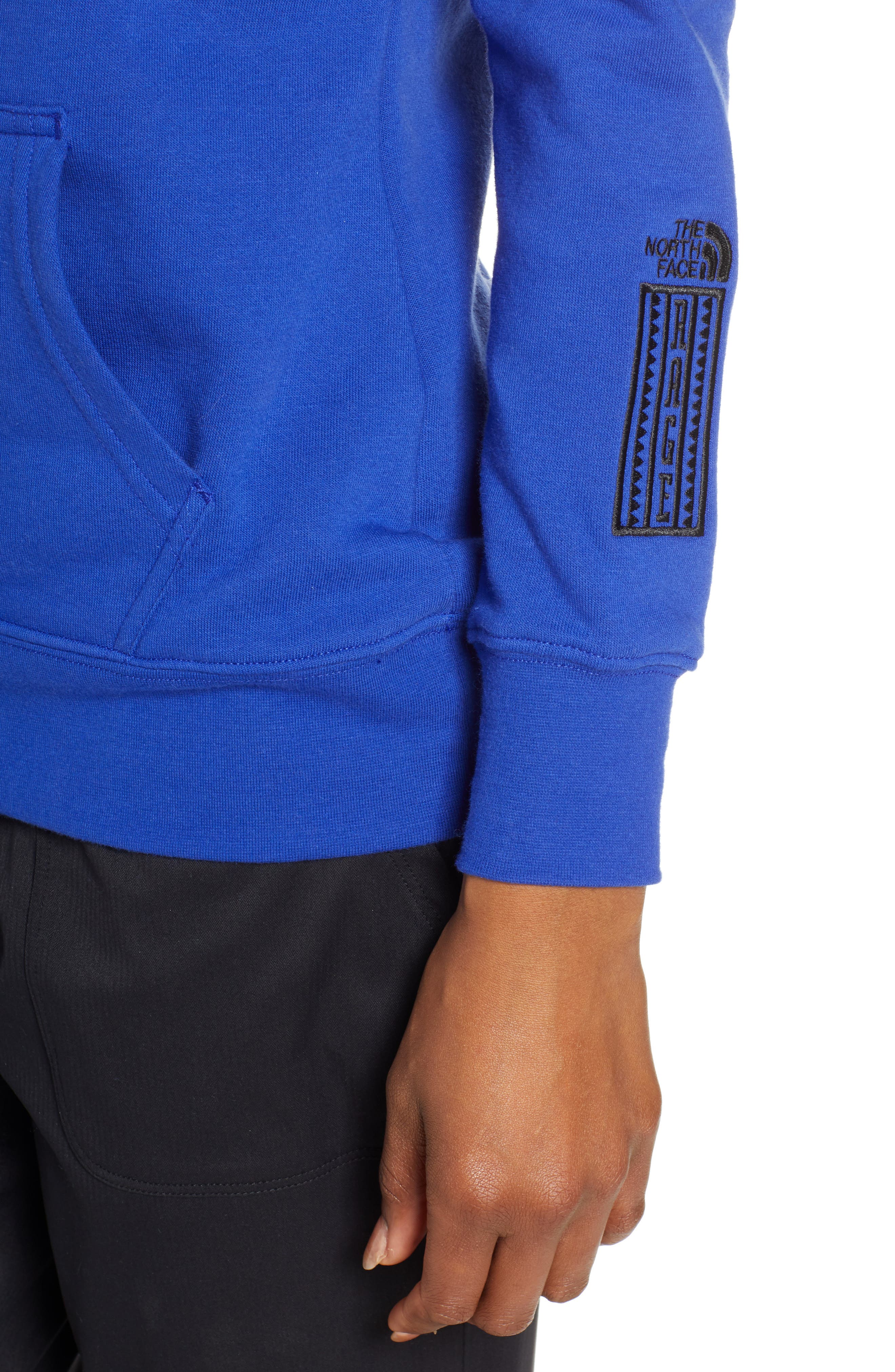 THE NORTH FACE, Half Dome Hoodie, Alternate thumbnail 5, color, AZTEC BLUE/ TNF BLACK