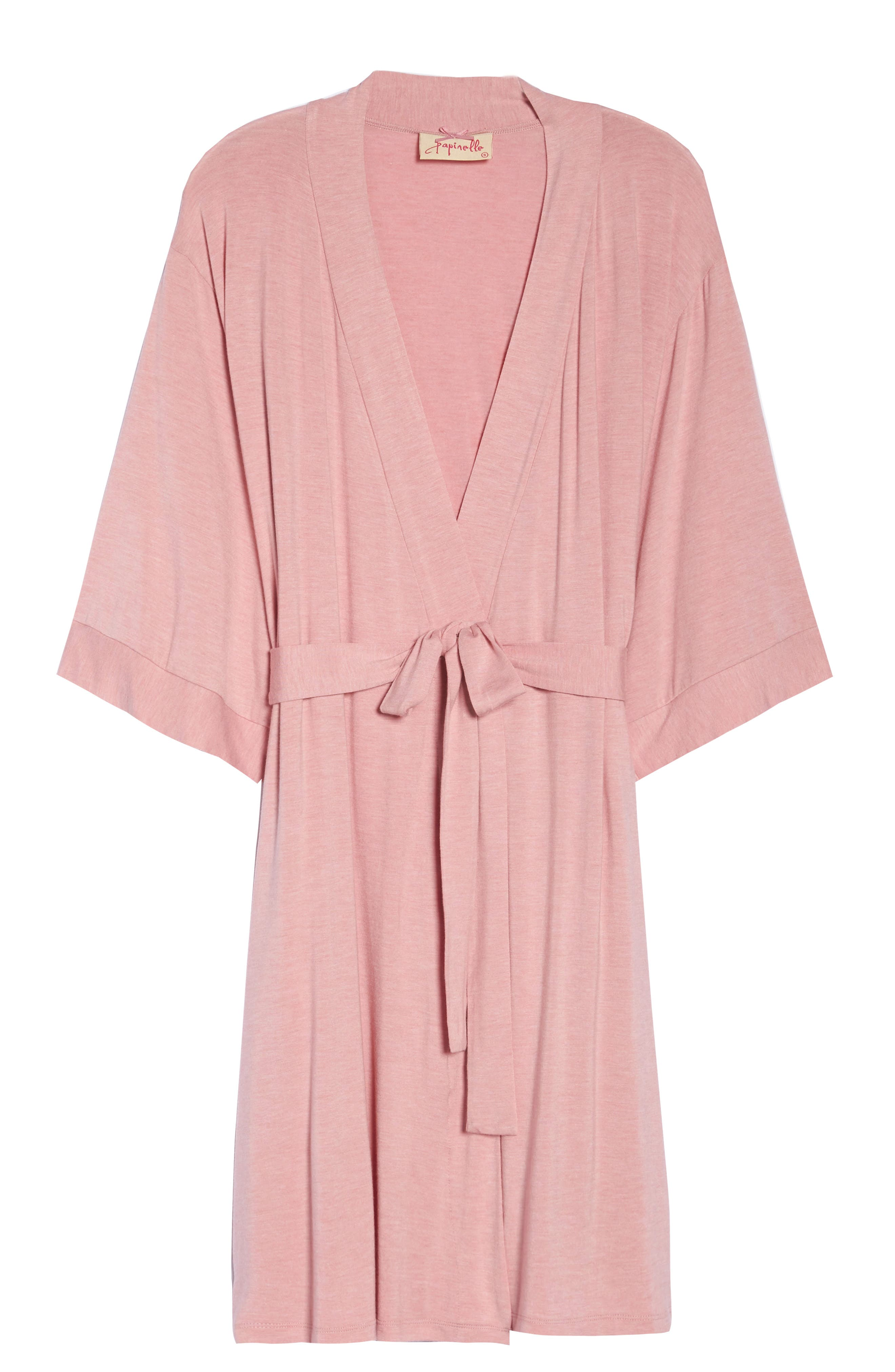 PAPINELLE, Short Robe, Alternate thumbnail 6, color, VINTAGE PINK