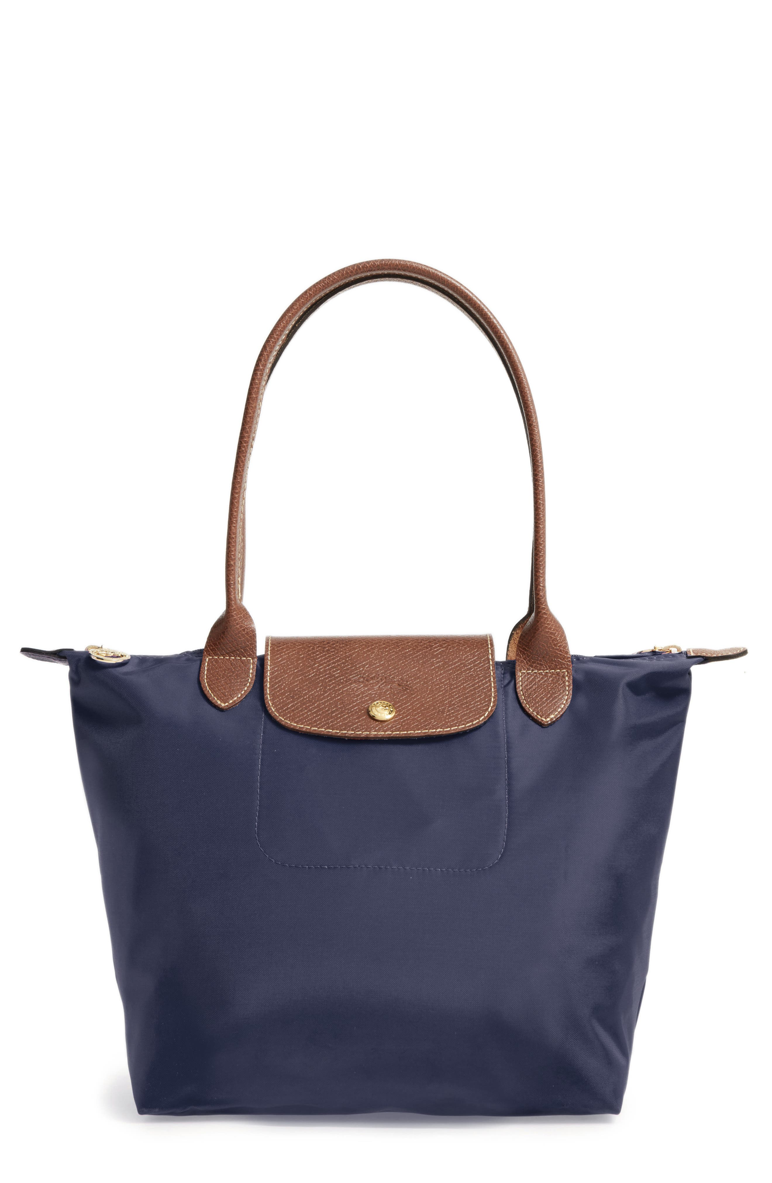LONGCHAMP 'Small Le Pliage' Tote, Main, color, NEW NAVY
