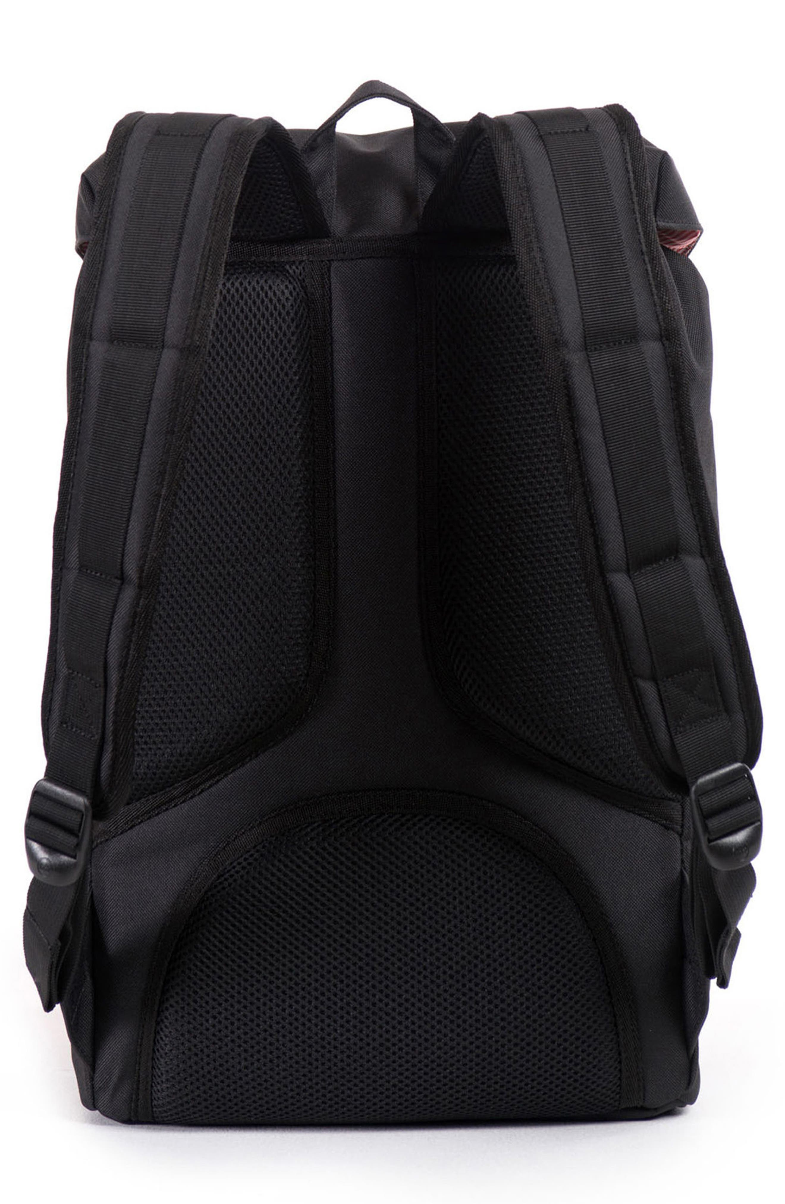 HERSCHEL SUPPLY CO., Little America - Mid Volume Backpack, Alternate thumbnail 2, color, BLACK