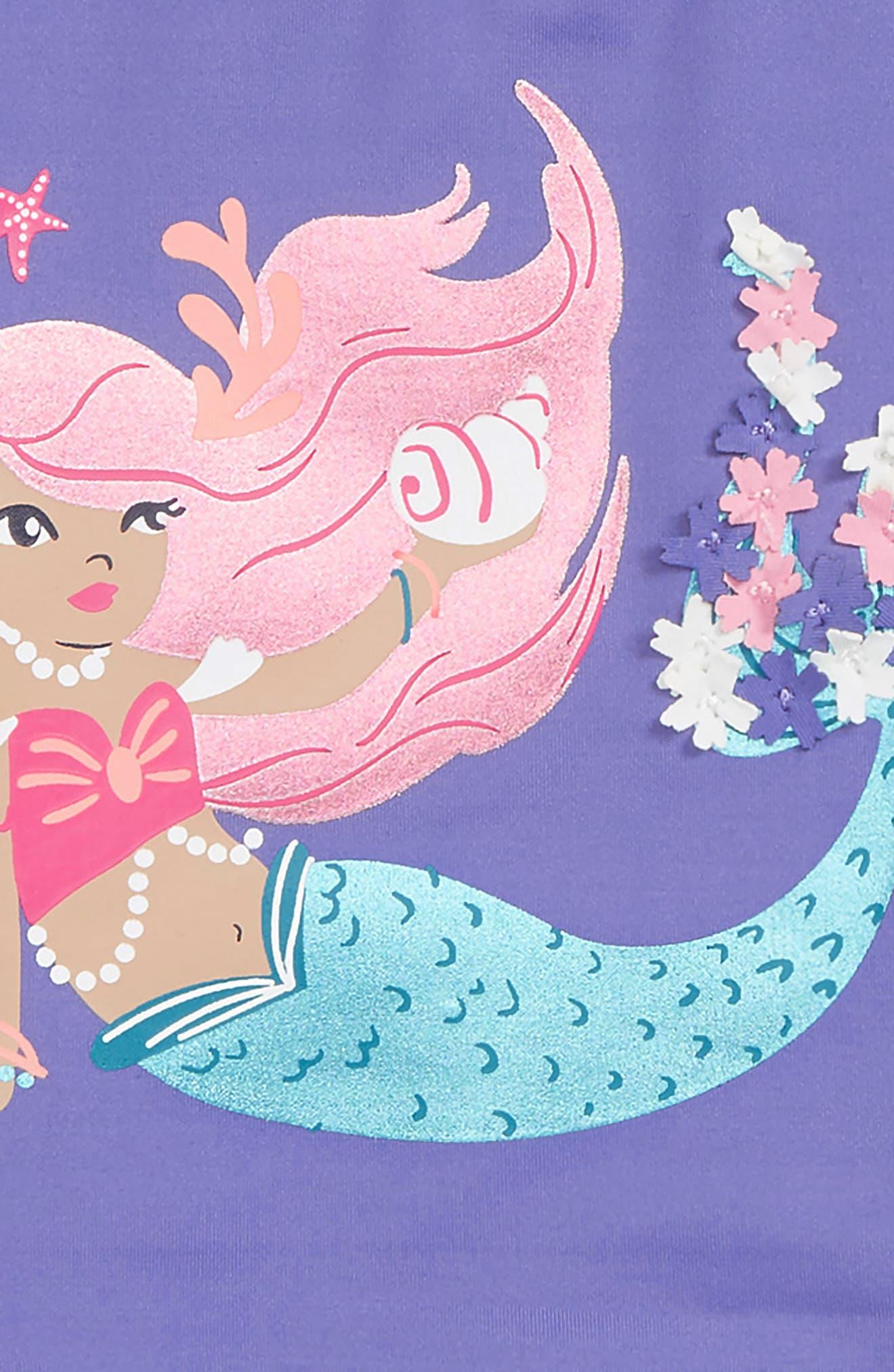 HATLEY, Mermaid Tales Two-Piece Rashguard Swimsuit, Alternate thumbnail 2, color, PURPLE