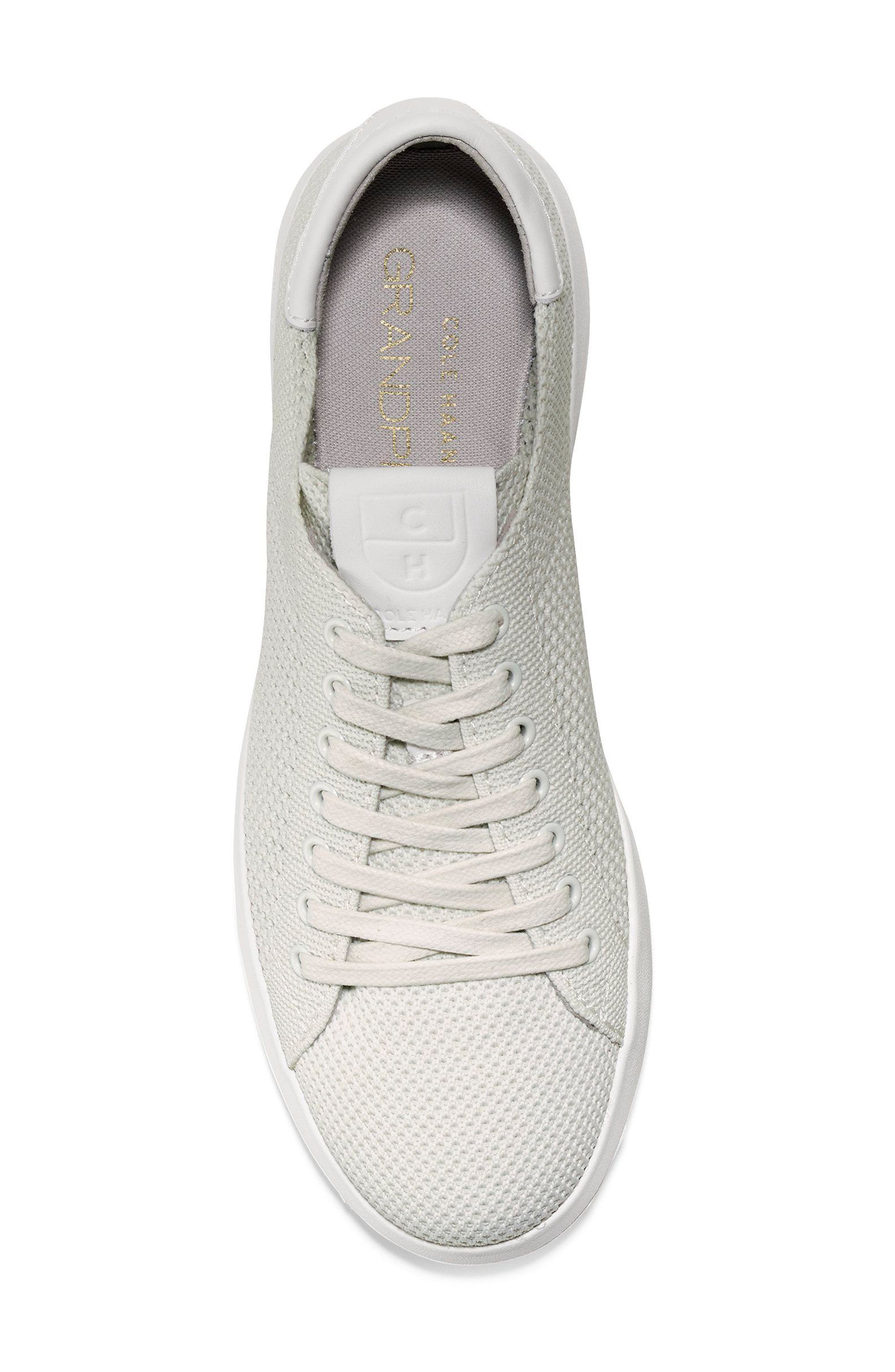 COLE HAAN, GrandPro Stitchlite Sneaker, Alternate thumbnail 5, color, CHALK FABRIC