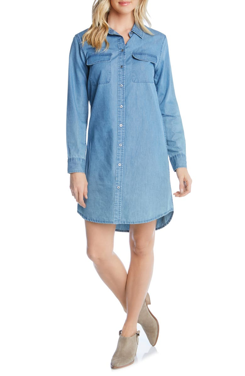 Karen Kane Dresses CHAMBRAY SHIRTDRESS