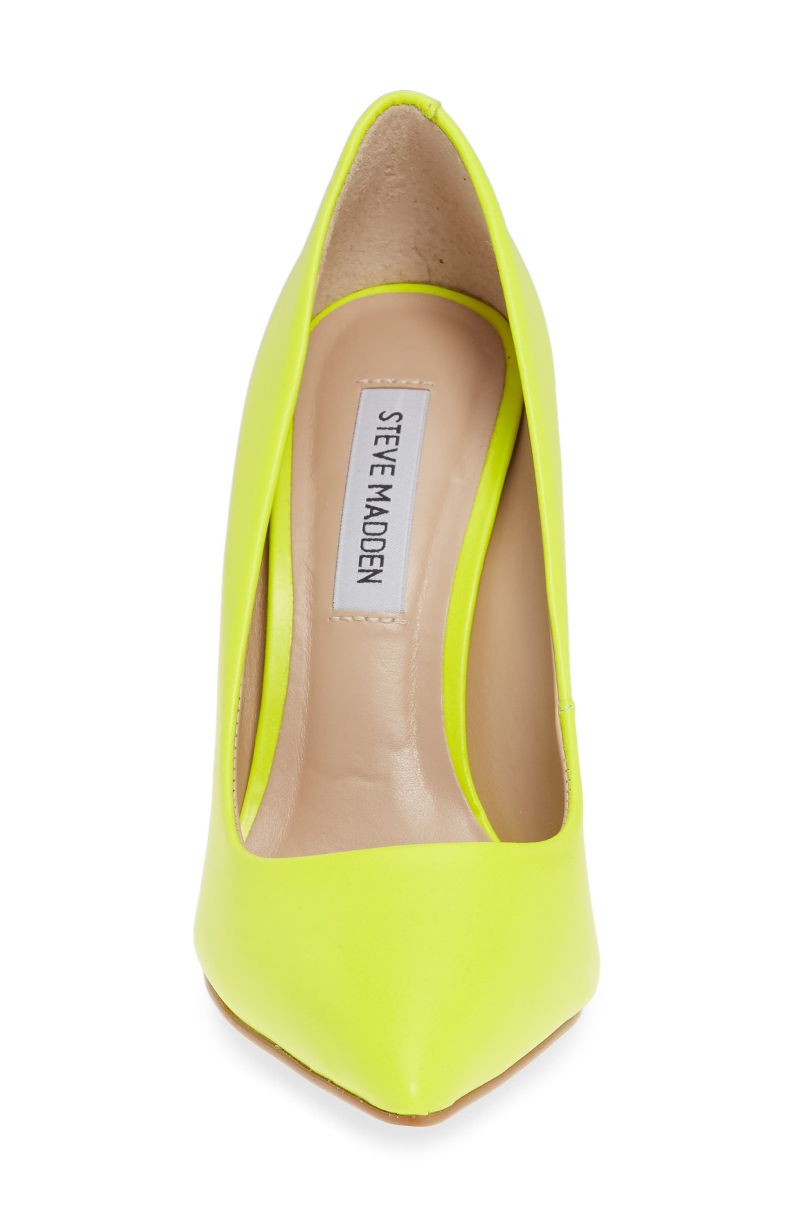 STEVE MADDEN, Daisie Pointy-Toe Pump, Alternate thumbnail 4, color, LIME