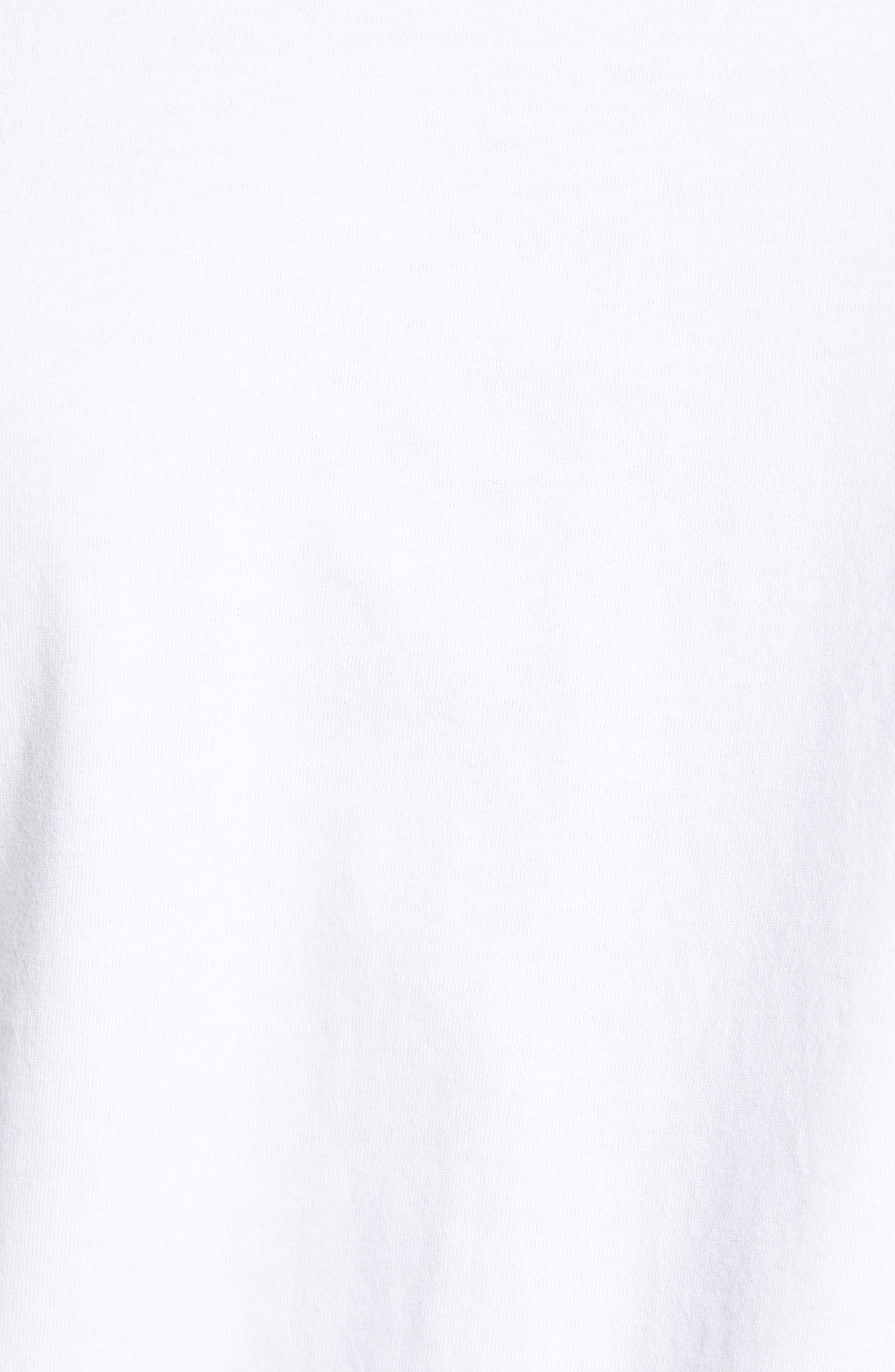 WINGS + HORNS, Short Sleeve Crewneck T-Shirt, Alternate thumbnail 5, color, WHITE
