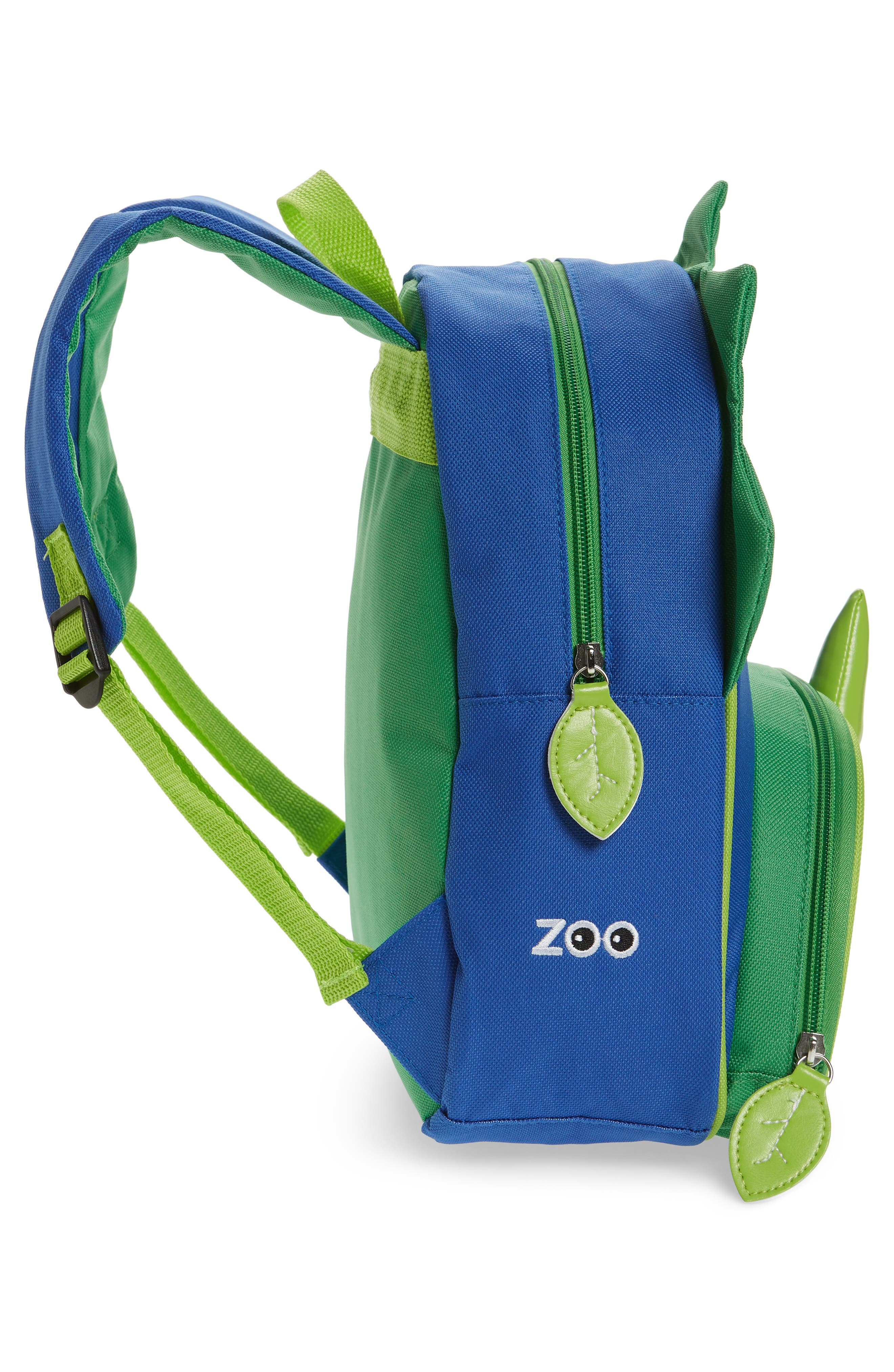 SKIP HOP, Zoo Pack Backpack, Alternate thumbnail 4, color, GREEN/ BLUE