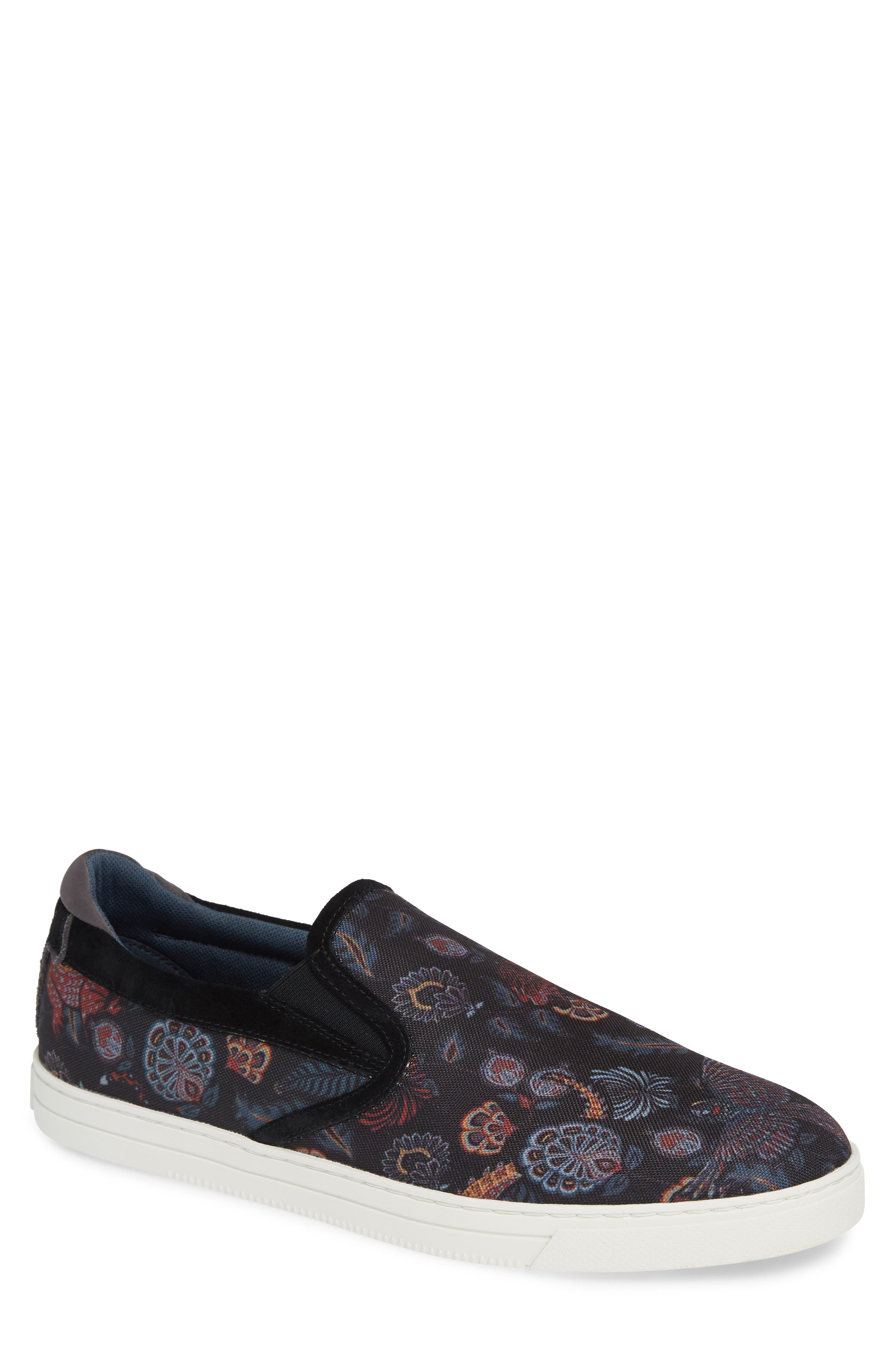 TED BAKER LONDON Mhako Slip-On Sneaker, Main, color, BLACK/ GREY