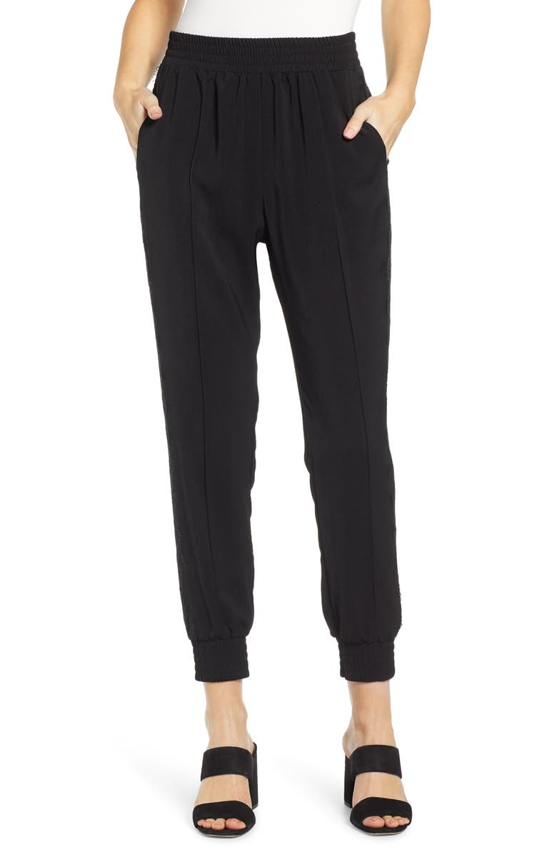Wayf Pants KIMBALL LACE TRIM JOGGER PANTS