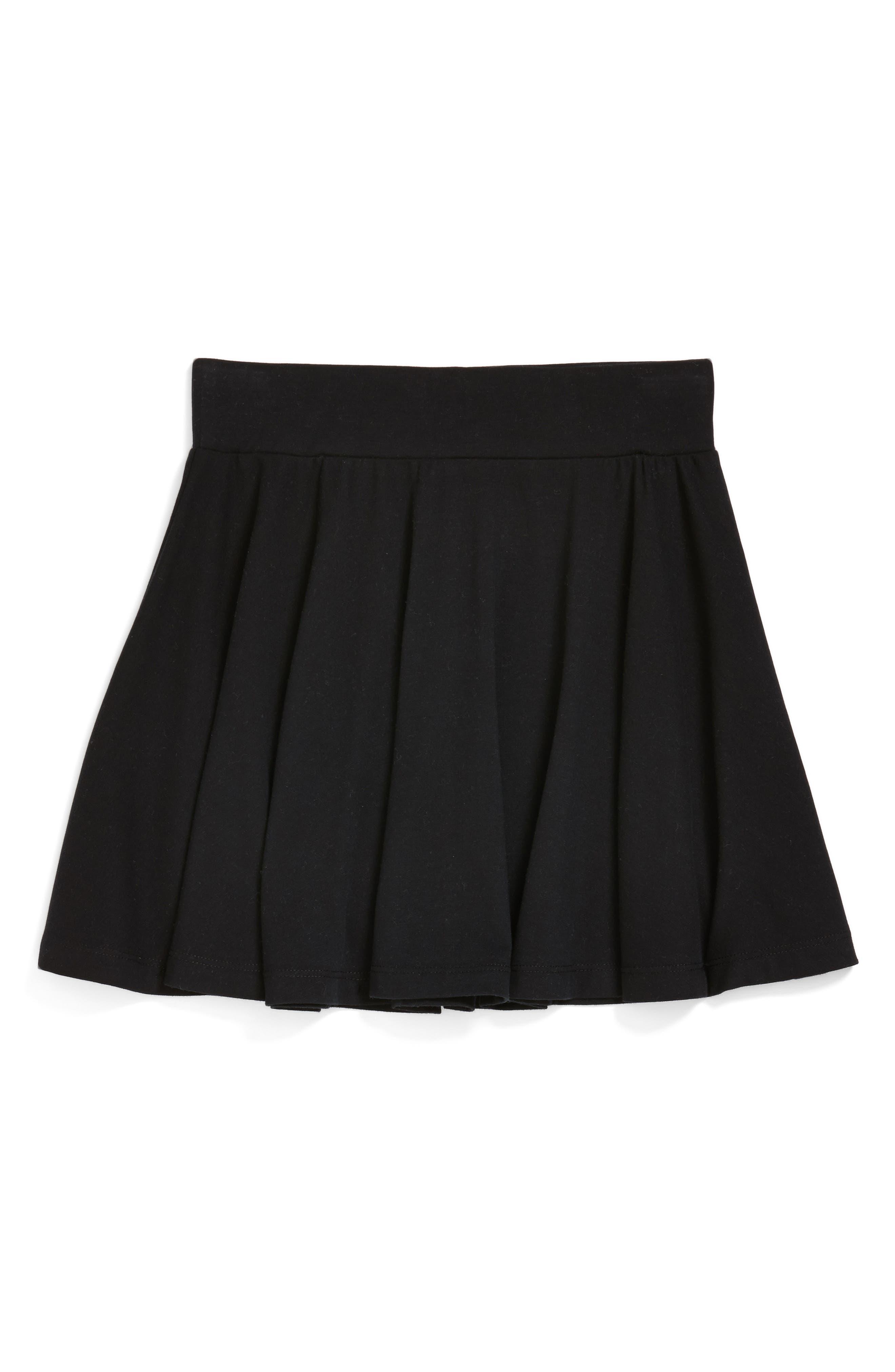 TUCKER + TATE Ali Skater Skirt, Main, color, BLACK