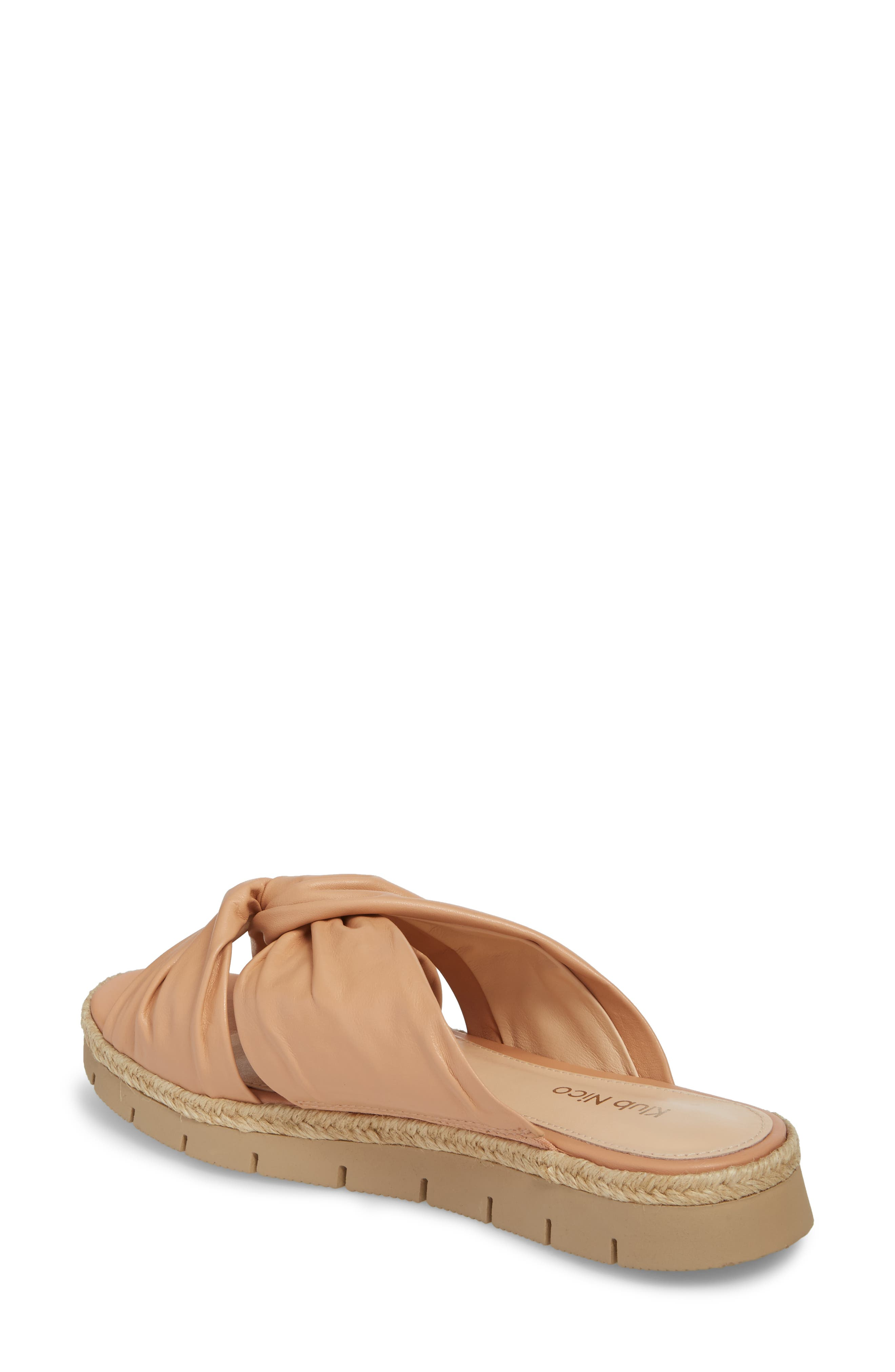 KLUB NICO, Charlie Slide Sandal, Alternate thumbnail 2, color, PEACH LEATHER