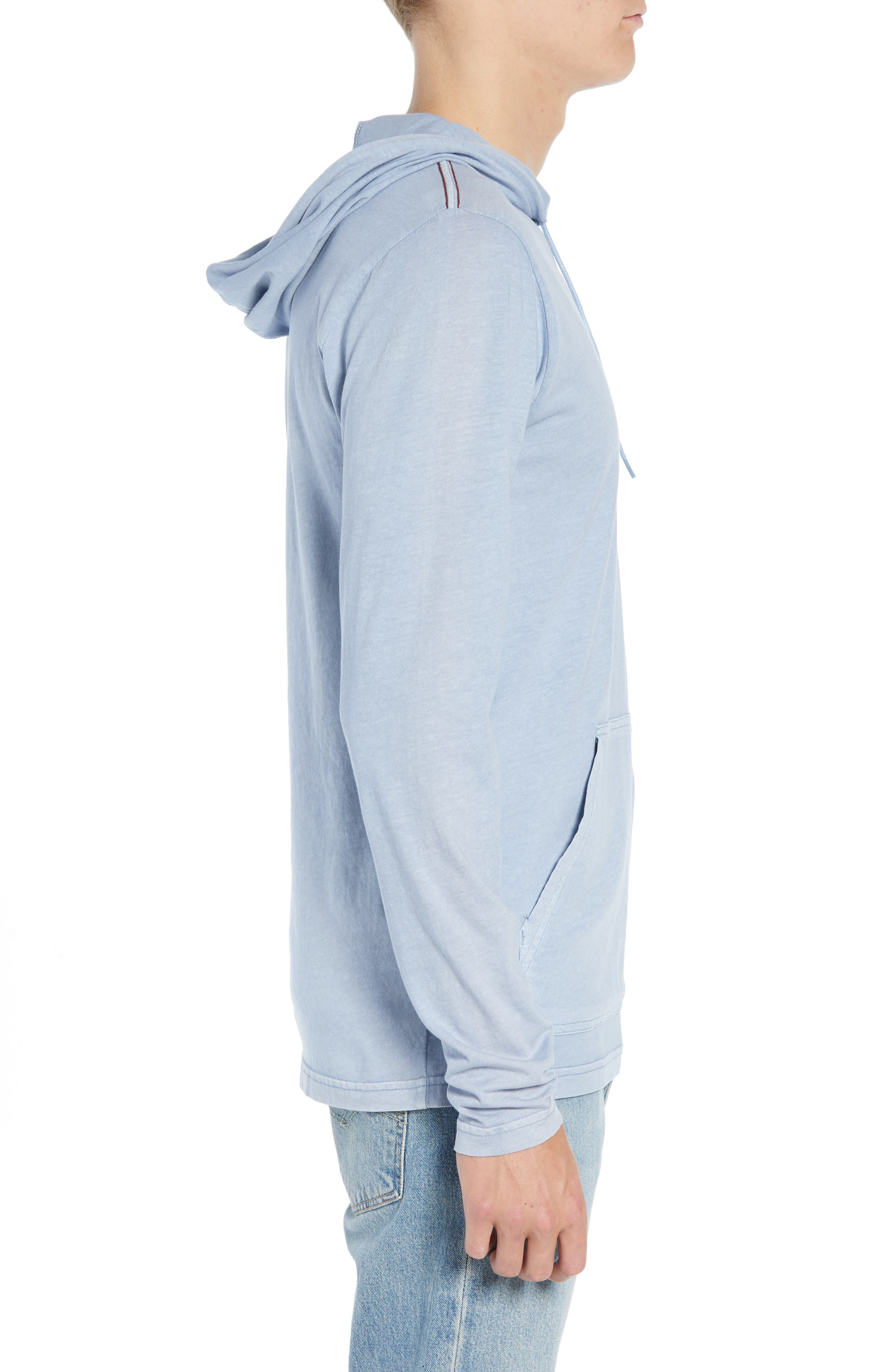 RVCA, PTC Cotton Hoodie, Alternate thumbnail 3, color, DUSTY BLUE