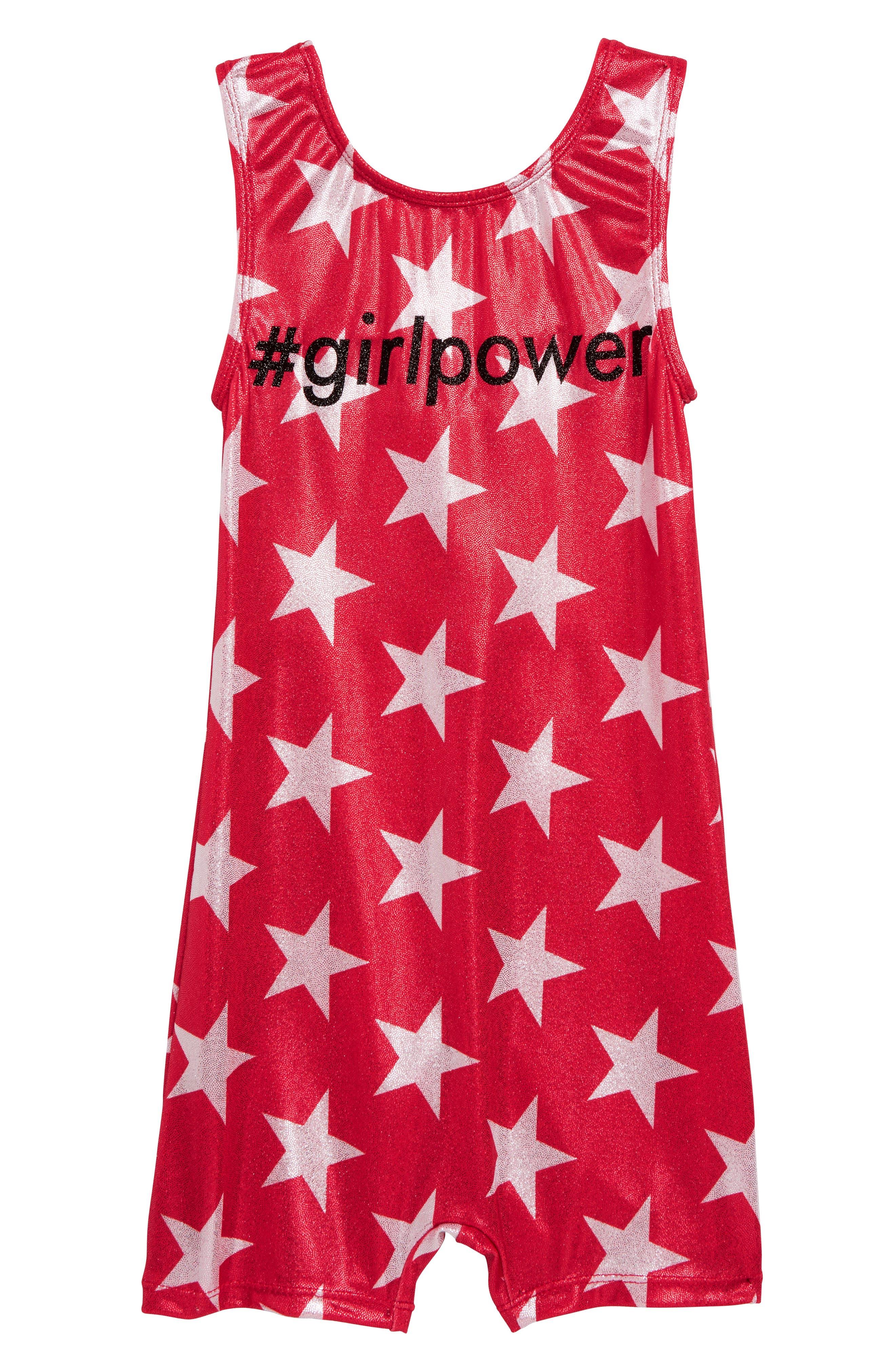 GP SPORT, Girl Power Biketard, Main thumbnail 1, color, RED
