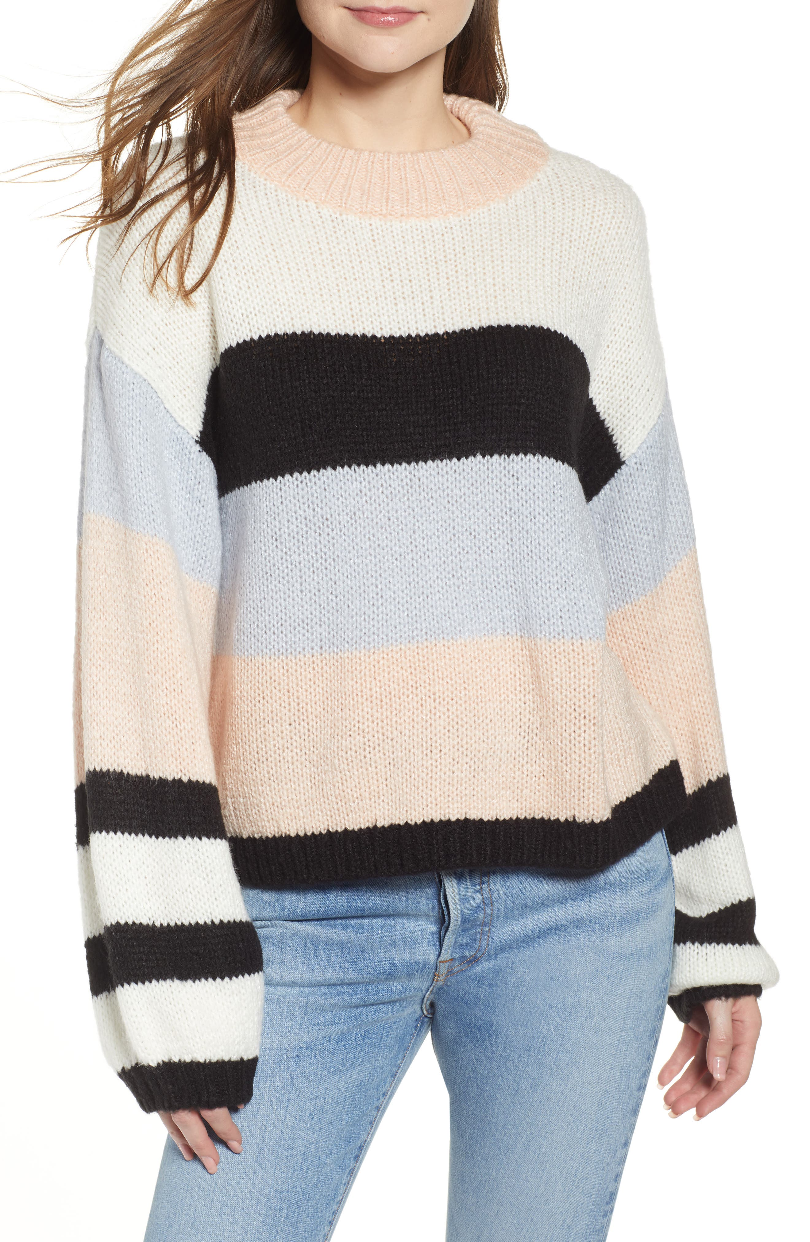 BP., Stripe Sweater, Main thumbnail 1, color, 660