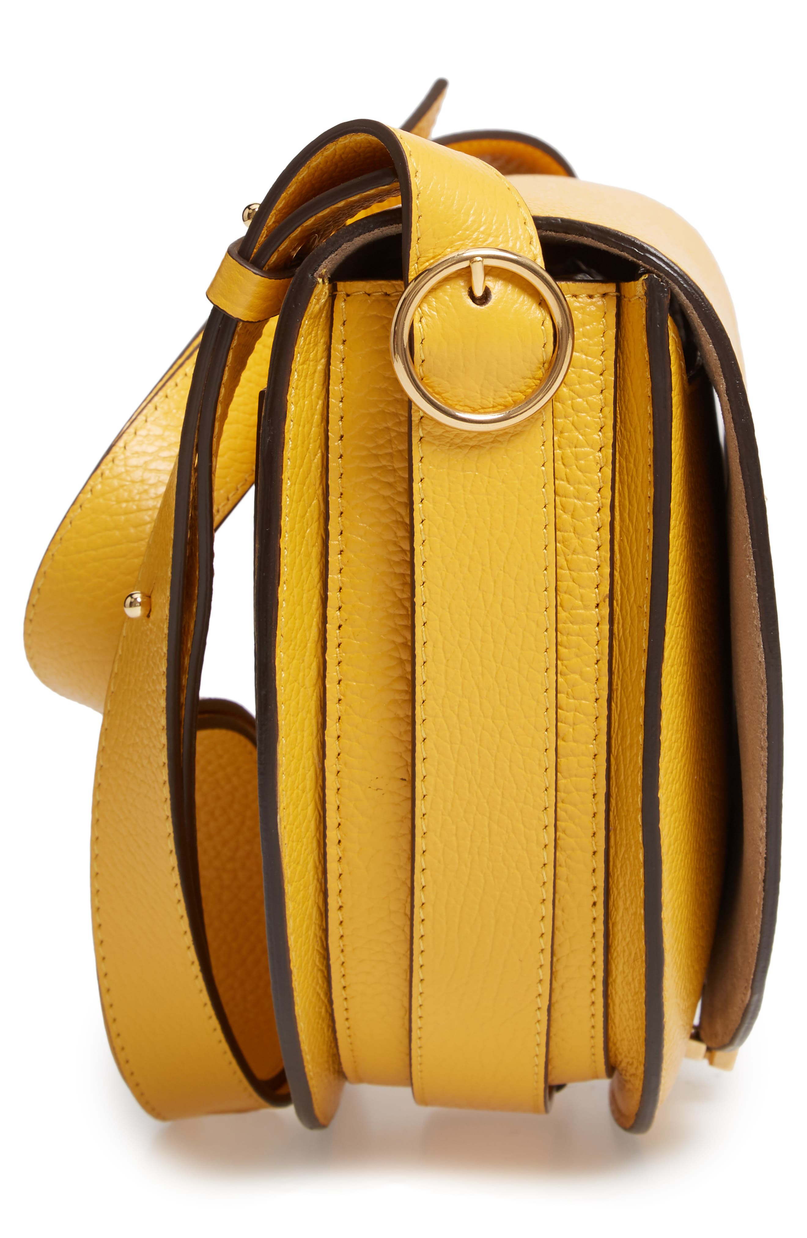 VICTORIA BECKHAM, Half Moon Box Shoulder Bag, Alternate thumbnail 5, color, YELLOW
