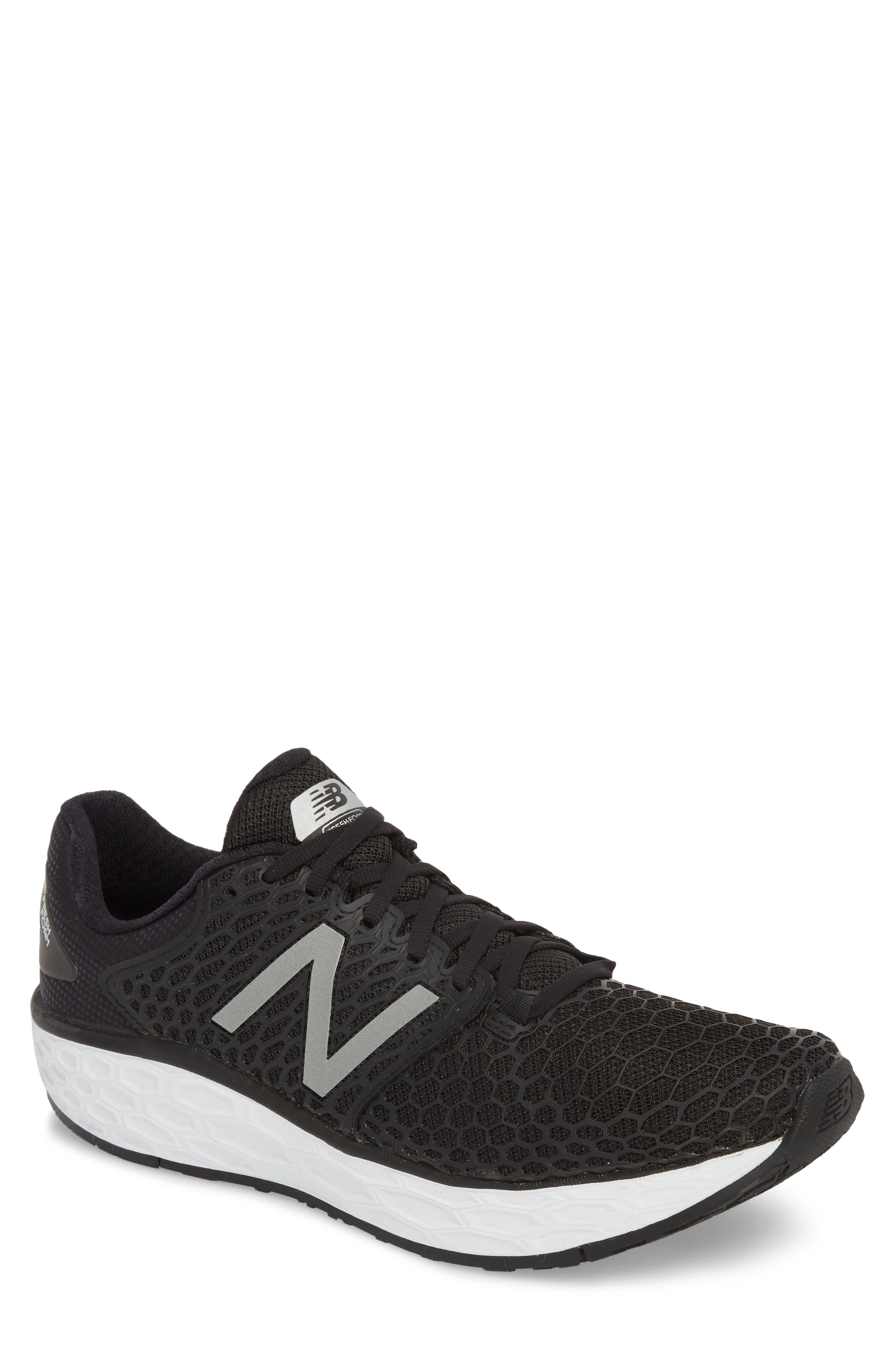 NEW BALANCE, Fresh Foam Vongo v3 Running Shoe, Main thumbnail 1, color, BLACK