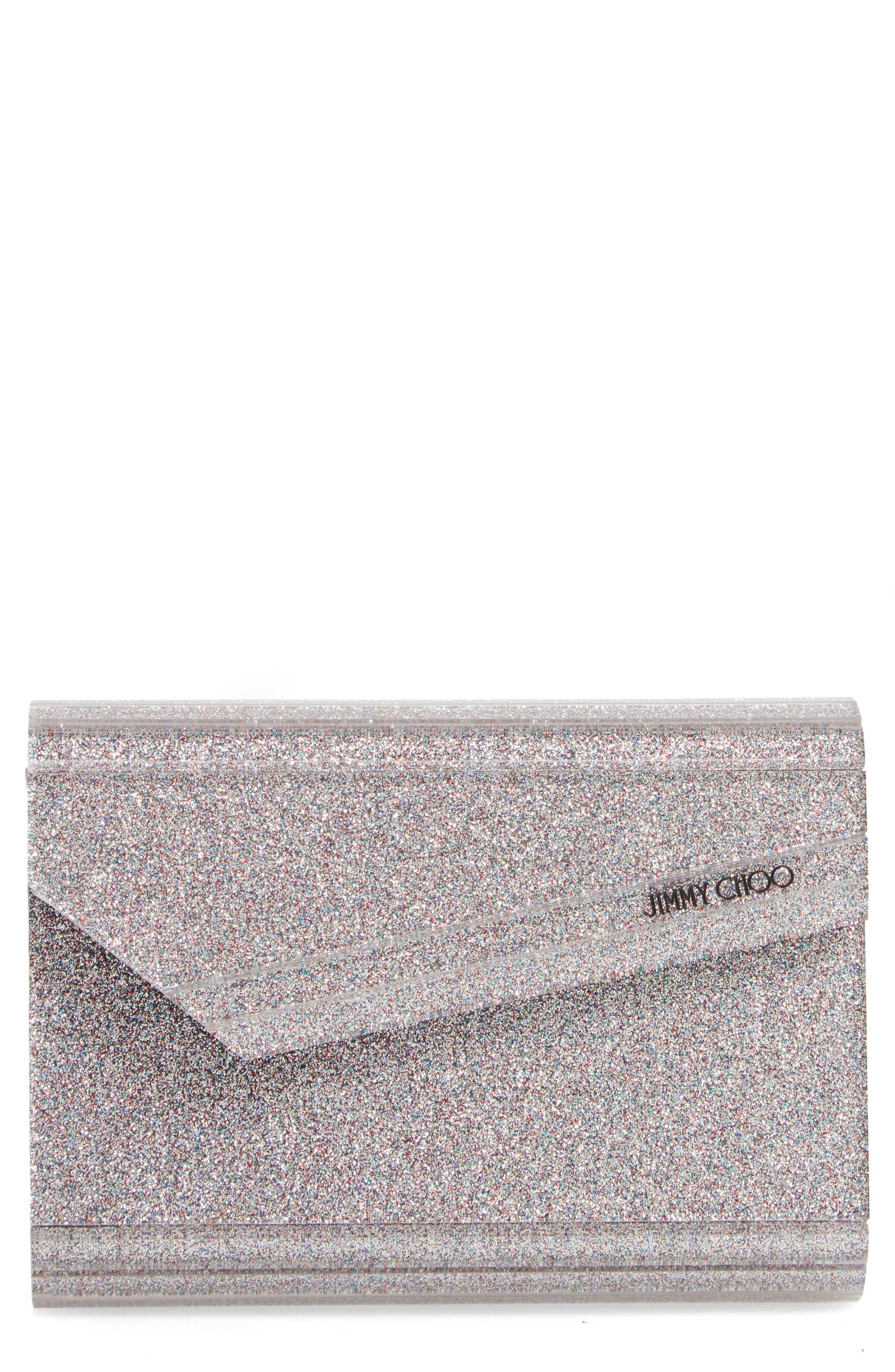 JIMMY CHOO Candy Glitter Clutch, Main, color, 040