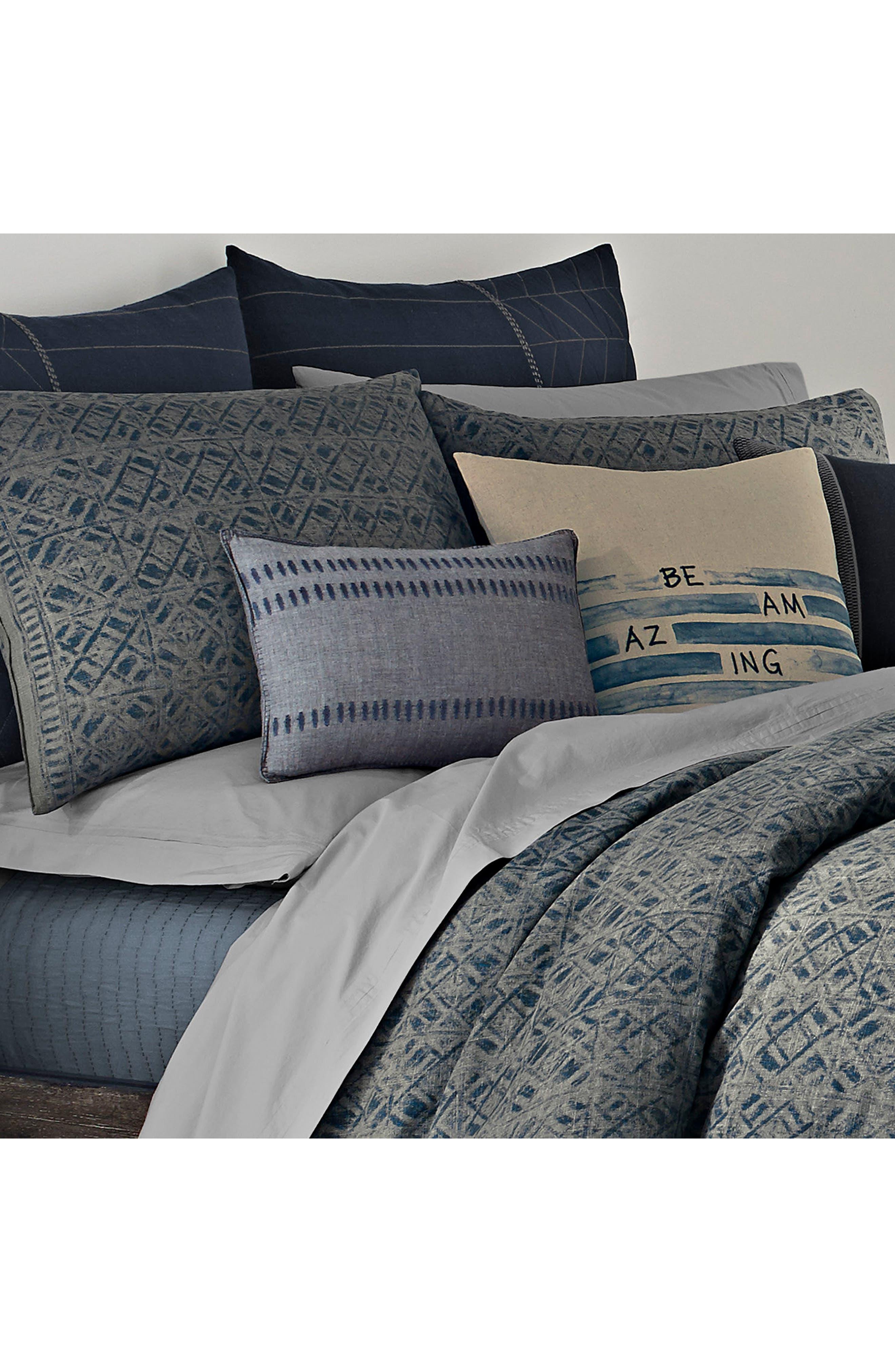 ED ELLEN DEGENERES, Nomad Stitched Accent Pillow, Alternate thumbnail 2, color, DARK GREY