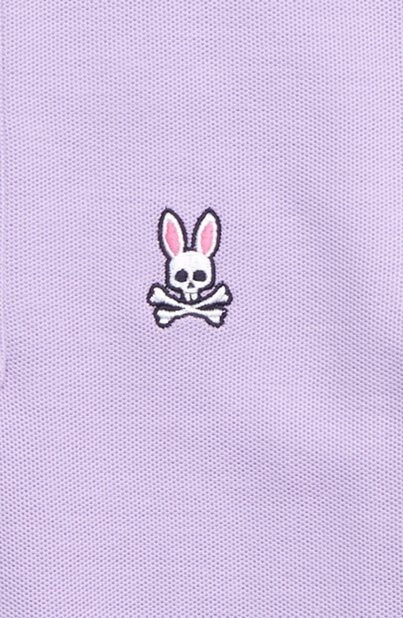 PSYCHO BUNNY, Northgate Polo, Alternate thumbnail 2, color, ASTER