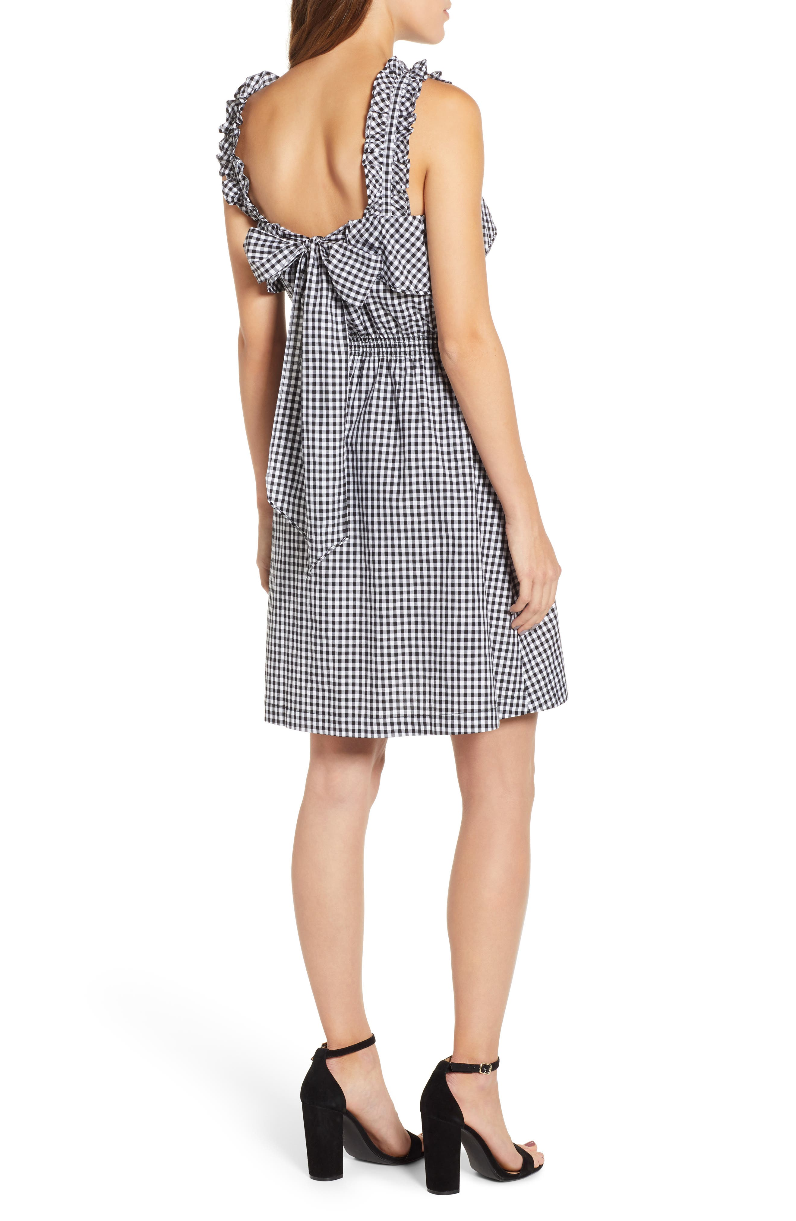 7 FOR ALL MANKIND<SUP>®</SUP>, Gingham Ruffle Dress, Alternate thumbnail 2, color, 005