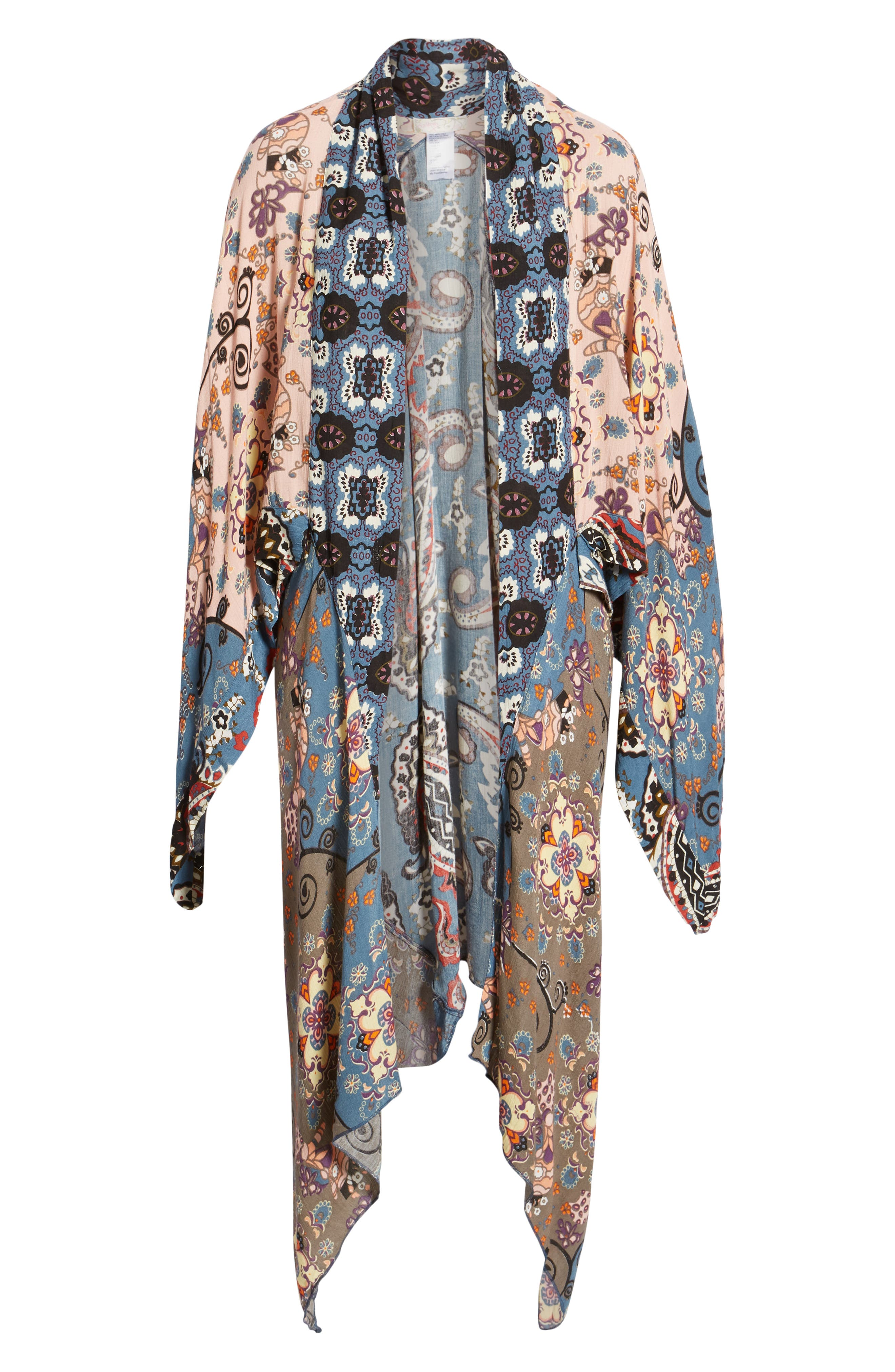 FREE PEOPLE, Little Wing Kimono, Alternate thumbnail 6, color, 005