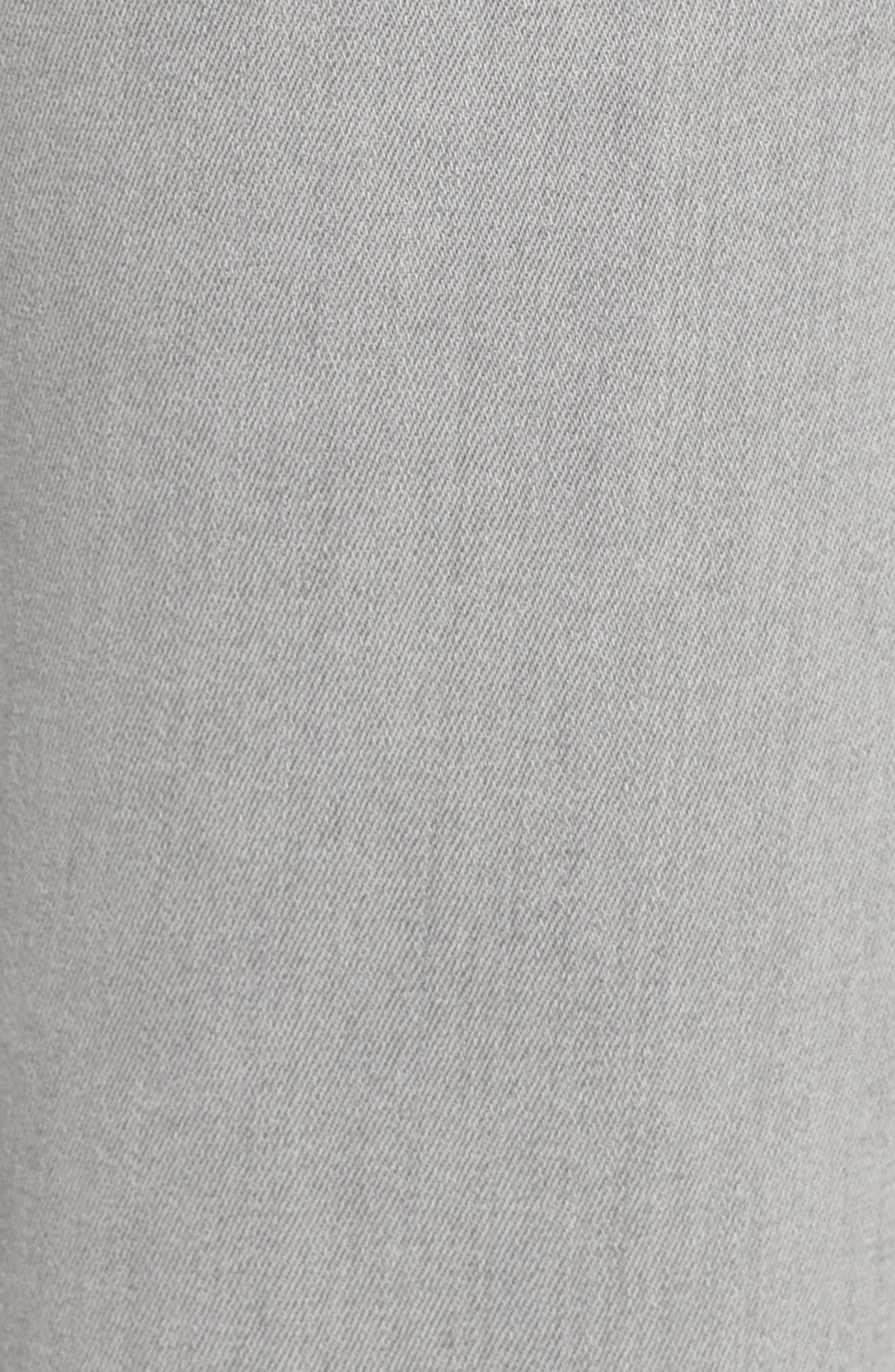 7 FOR ALL MANKIND<SUP>®</SUP>, b(air) High Waist Raw Hem Ankle Skinny Jeans, Alternate thumbnail 6, color, BAIR PURE SOFT GREY