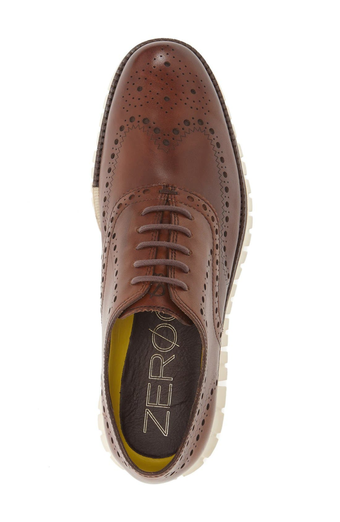 COLE HAAN, 'ZeroGrand' Wingtip Oxford, Alternate thumbnail 2, color, BRITISH TAN