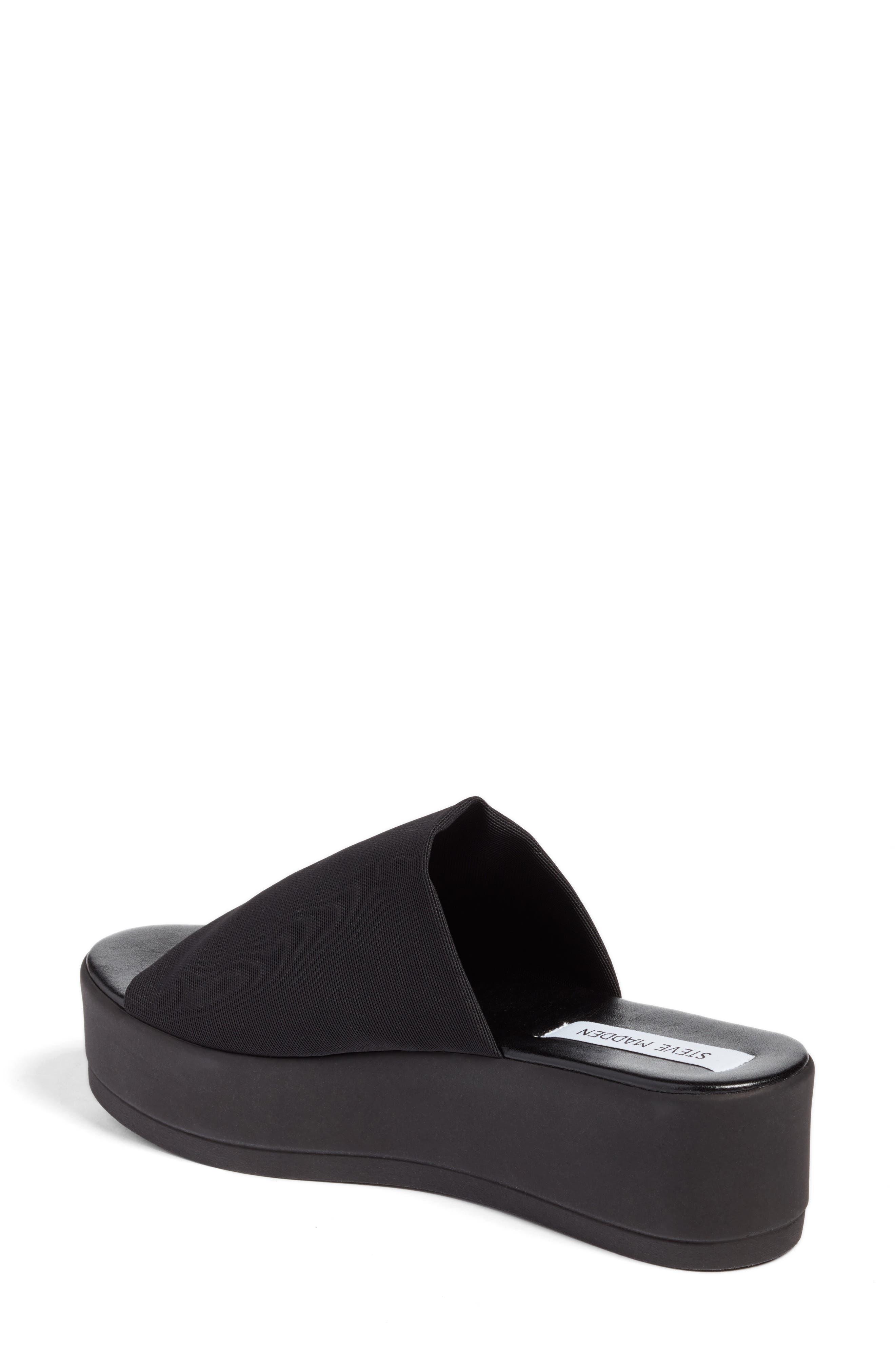 STEVE MADDEN, Slinky Platform Sandal, Alternate thumbnail 2, color, 001