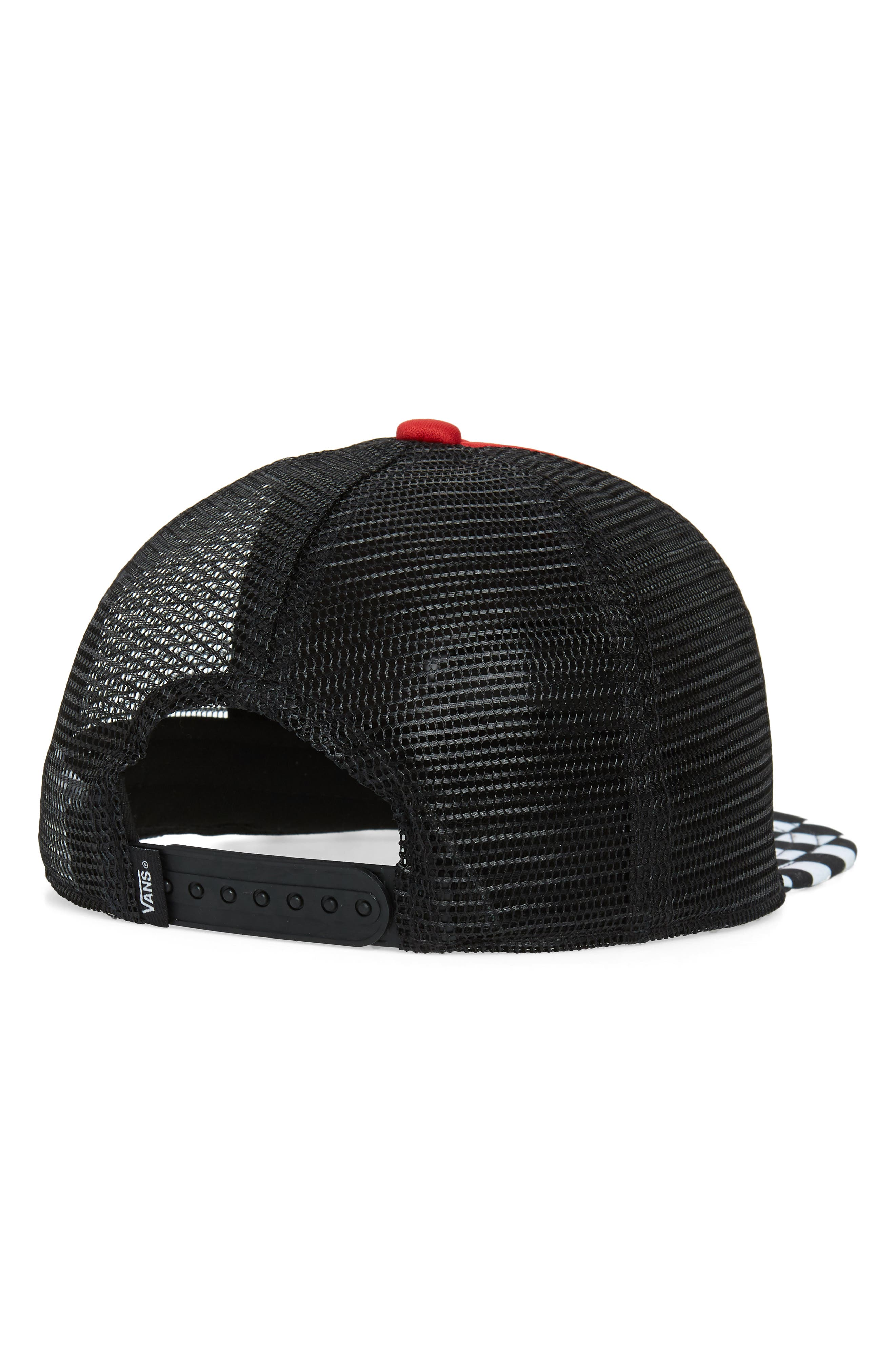 VANS, Classic Patch Trucker Hat, Alternate thumbnail 2, color, RACING RED