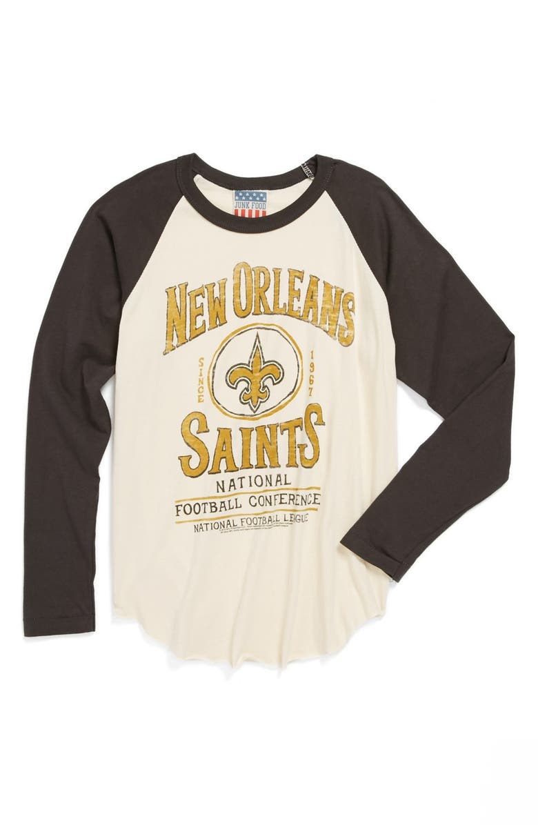 reputable site 7906e 76c6c Junk Food 'New Orleans Saints' Raglan Long Sleeve T-Shirt ...