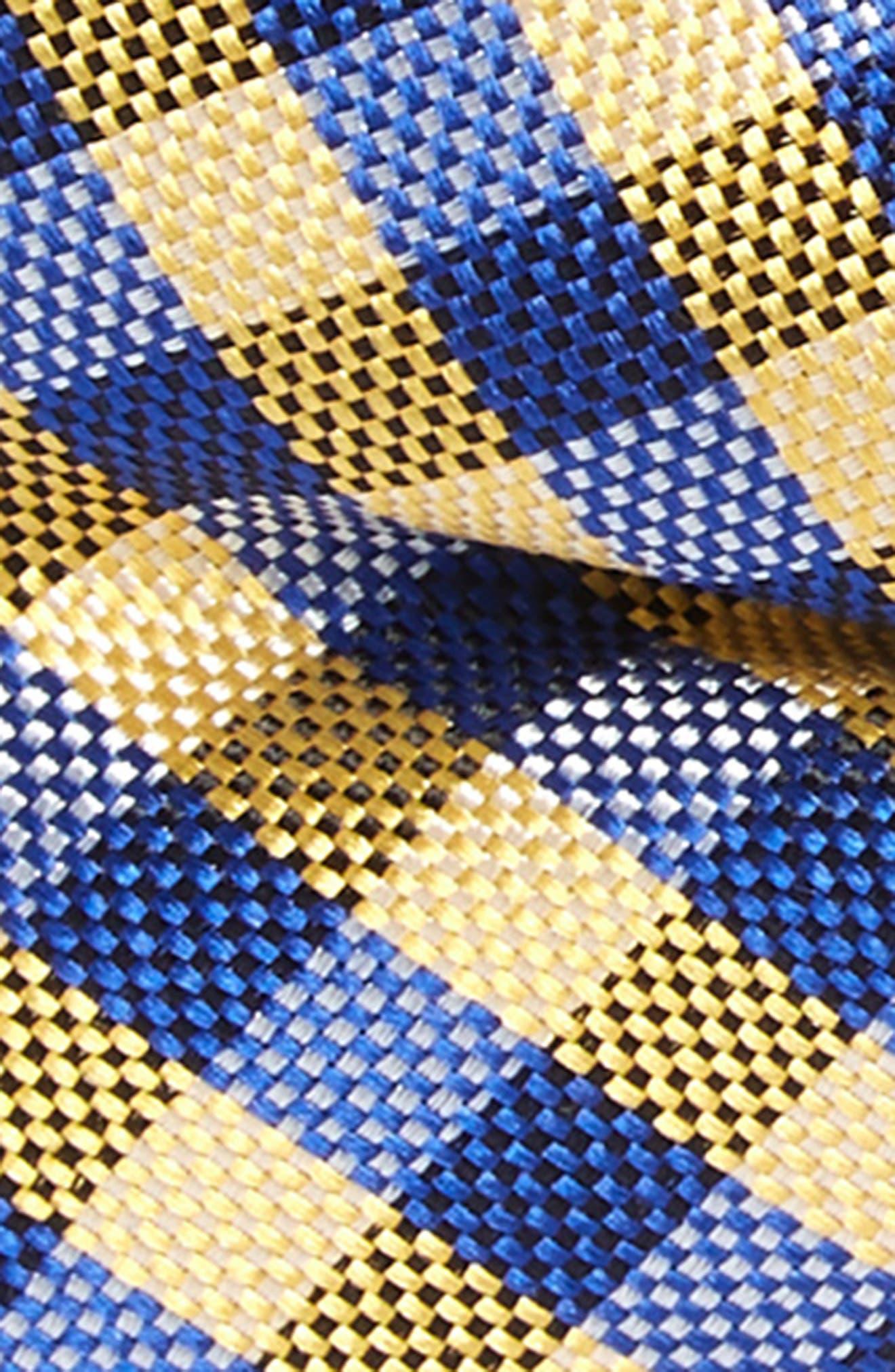 NORDSTROM, Plaid Silk Bow Tie, Alternate thumbnail 2, color, 700