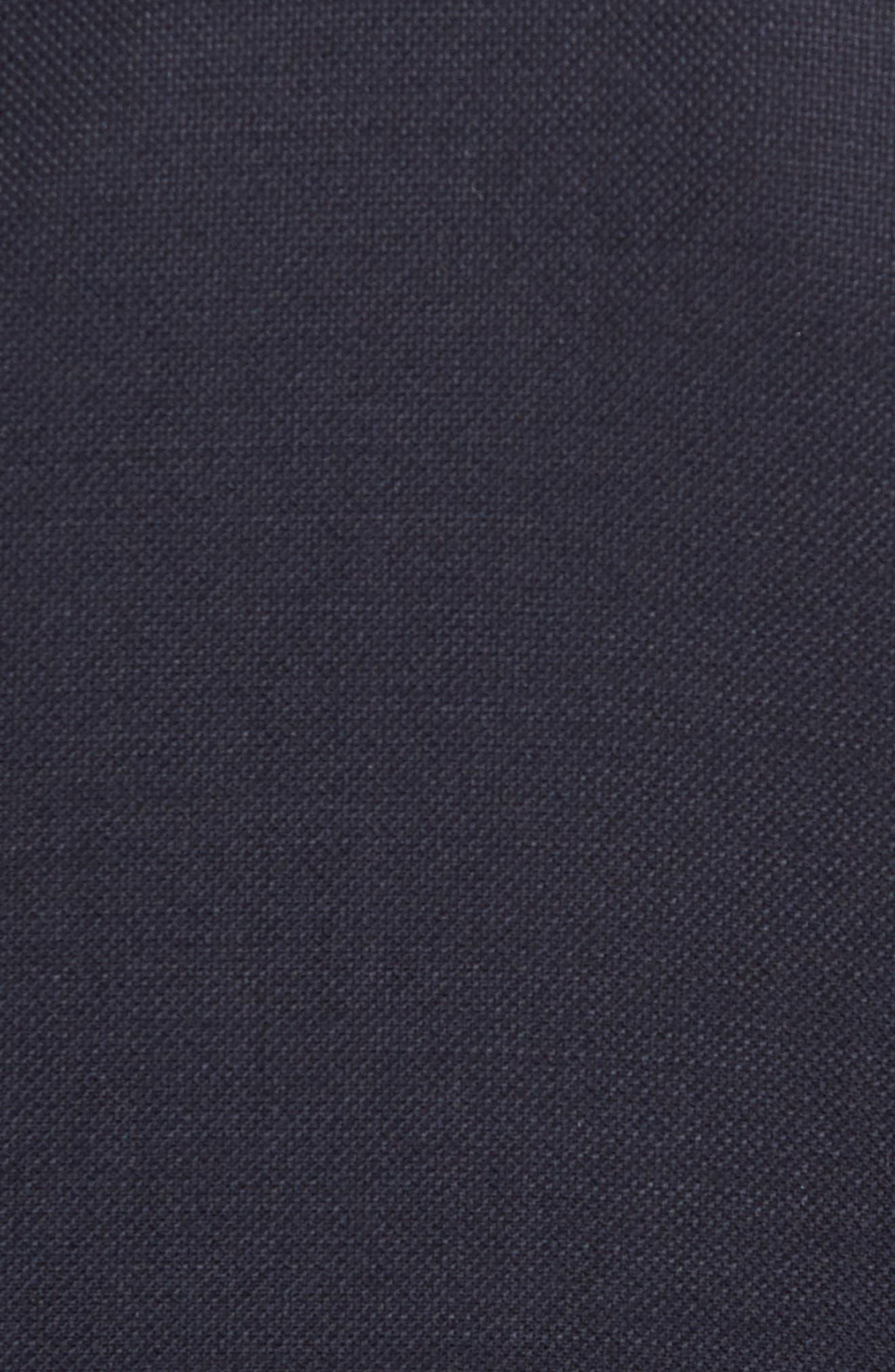 HART SCHAFFNER MARX, New York Classic Fit Wool Blend Blazer, Alternate thumbnail 7, color, NAVY