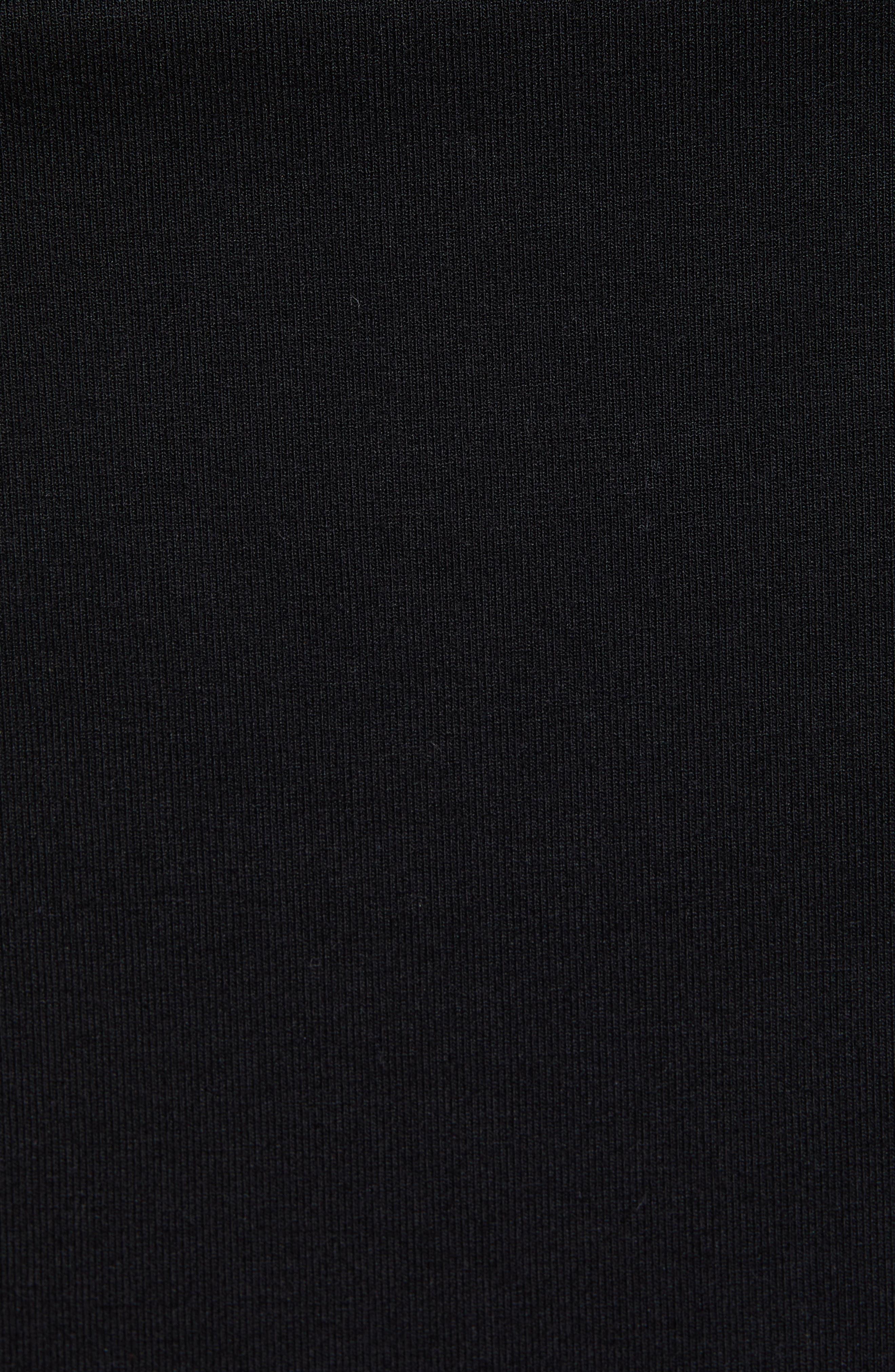 ISABELLA OLIVER, 'Ellis' Side Ruched Maternity Tank Dress, Alternate thumbnail 5, color, CAVIAR BLACK