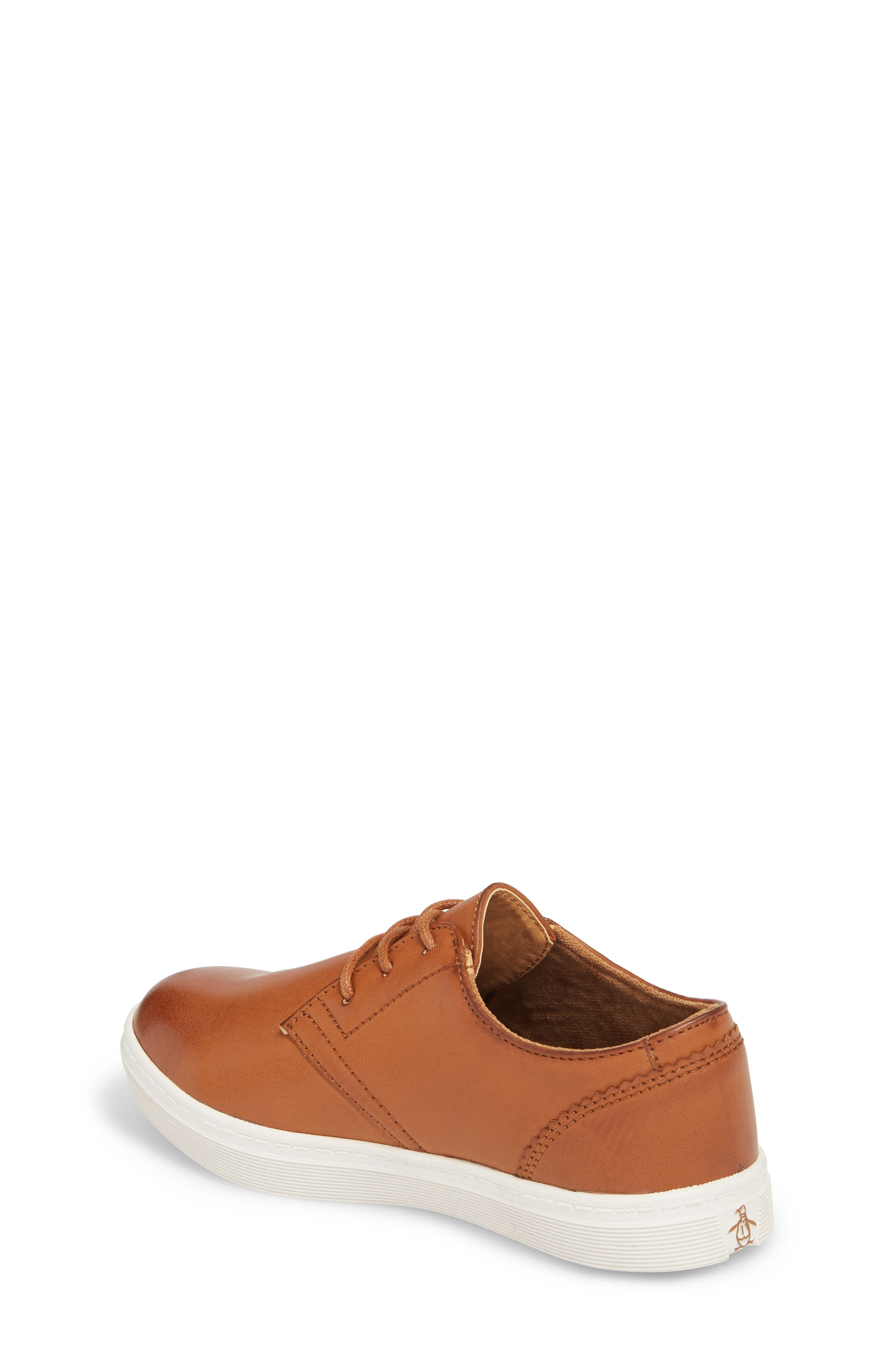 ORIGINAL PENGUIN, Freeland Sneaker, Alternate thumbnail 2, color, COGNAC