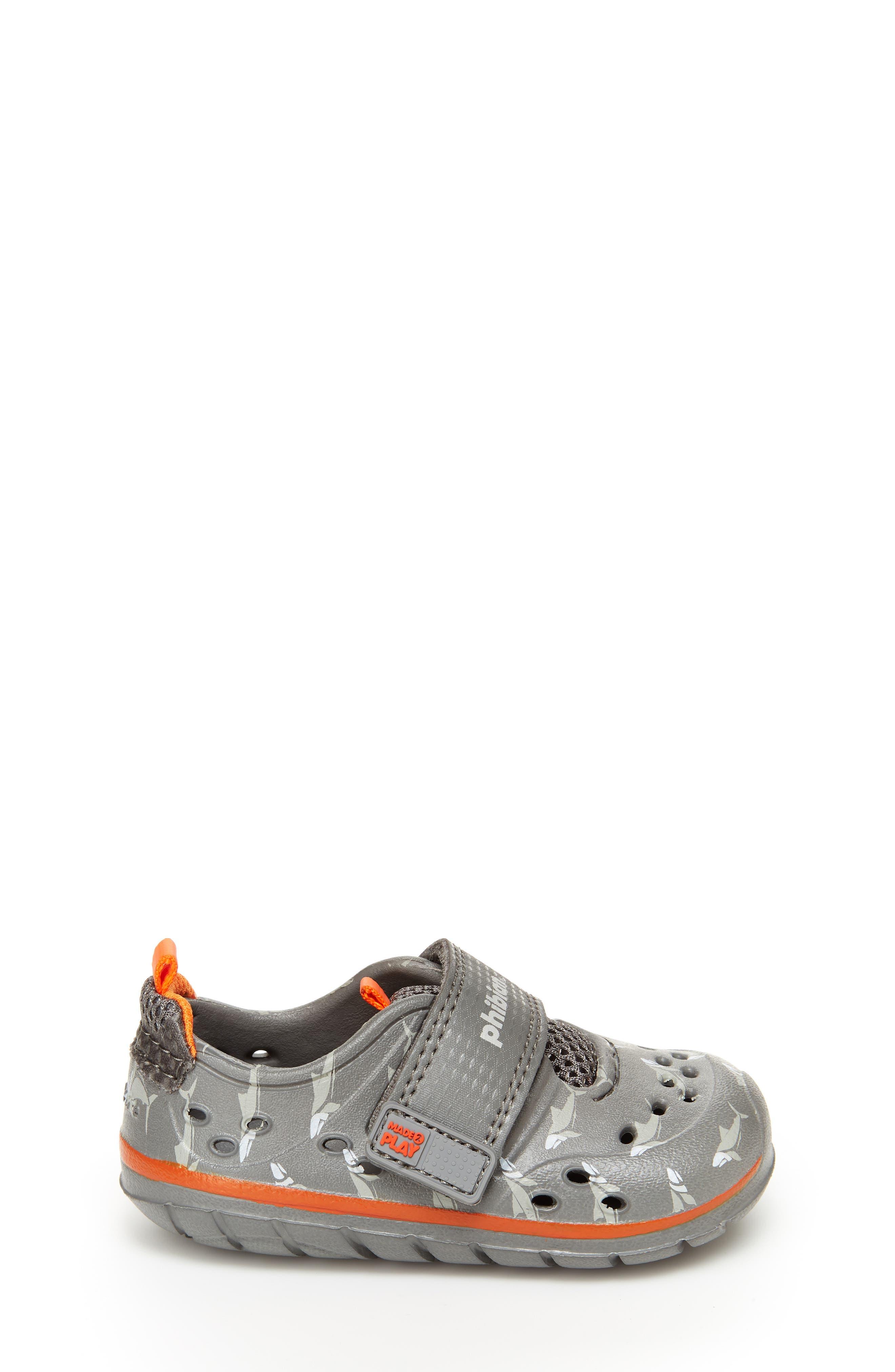 STRIDE RITE, Made2Play<sup>®</sup> Phibian Sneaker, Alternate thumbnail 2, color, GREY SHARK EVA