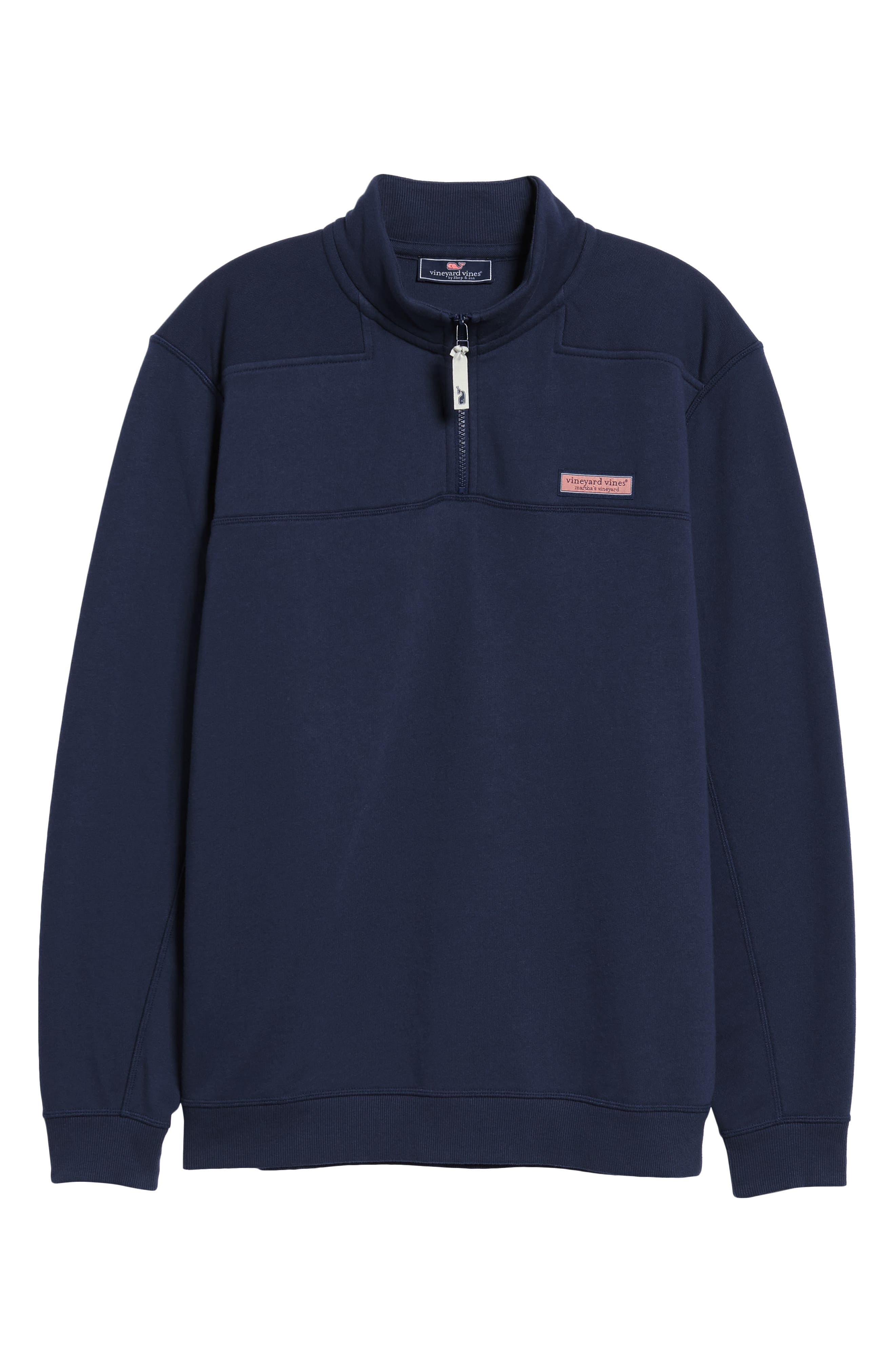 VINEYARD VINES, Collegiate Half Zip Pullover, Alternate thumbnail 6, color, VINEYARD NAVY