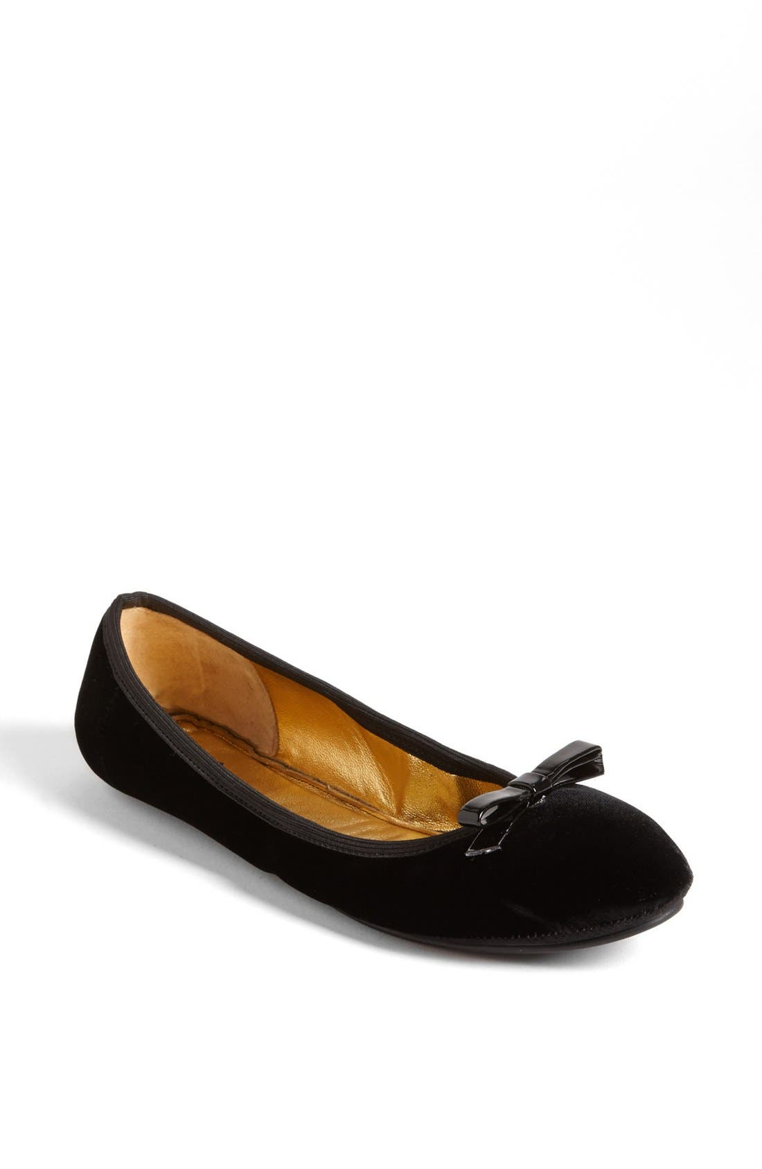 KATE SPADE NEW YORK, 'catcher' flat, Alternate thumbnail 4, color, 001
