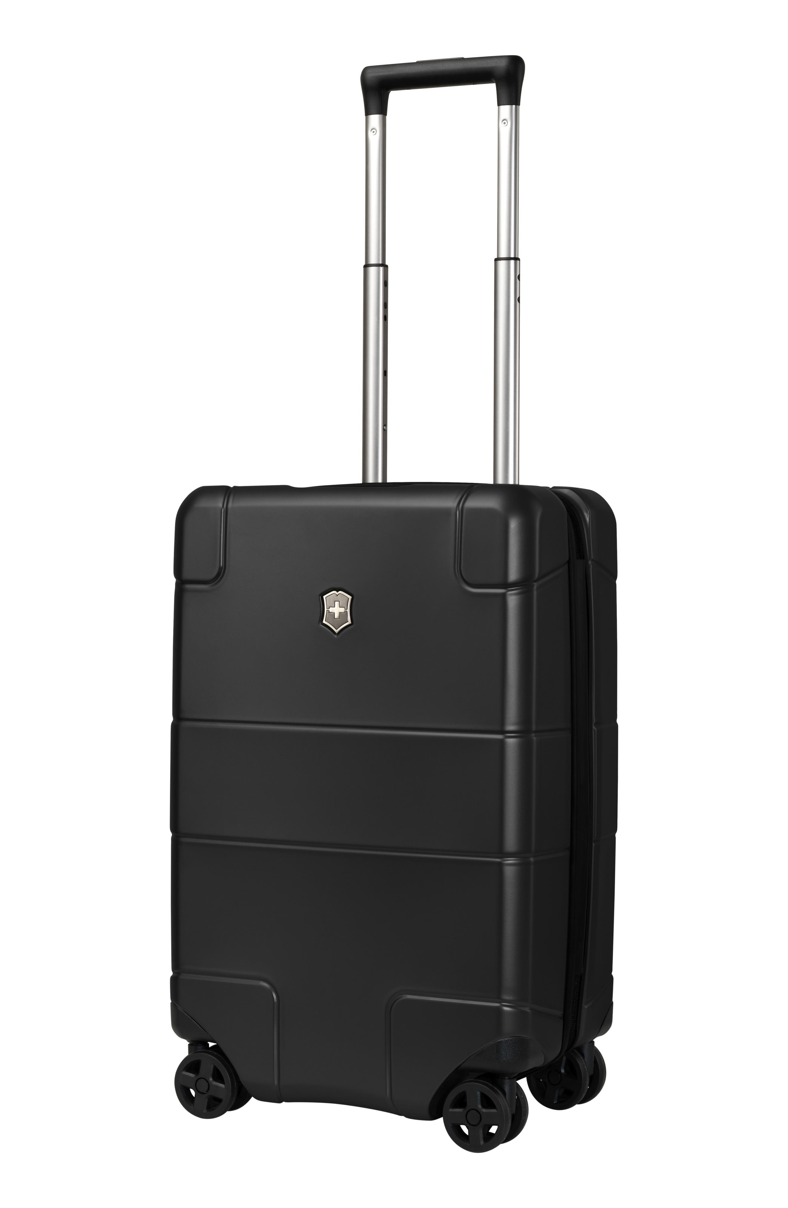 VICTORINOX SWISS ARMY<SUP>®</SUP>, Lexicon Frequent Flyer 22-Inch Wheeled Carry-On, Alternate thumbnail 3, color, BLACK