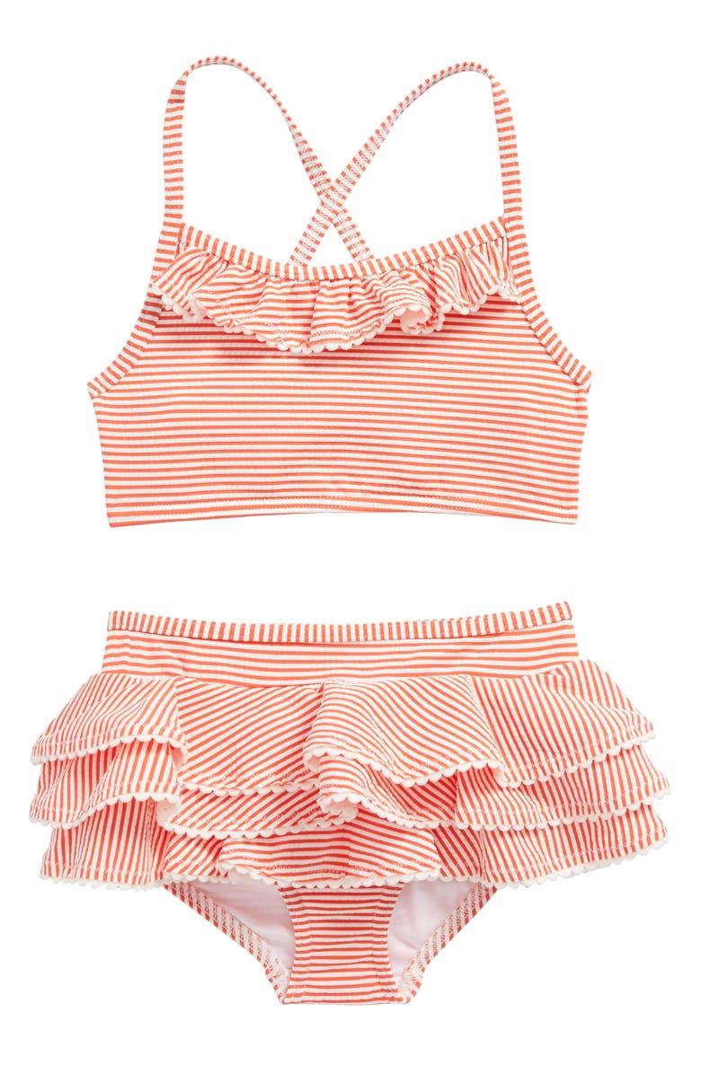 63dd61f9 Mini Boden Ruffle Two-Piece Swimsuit (Toddler Girls, Little Girls ...