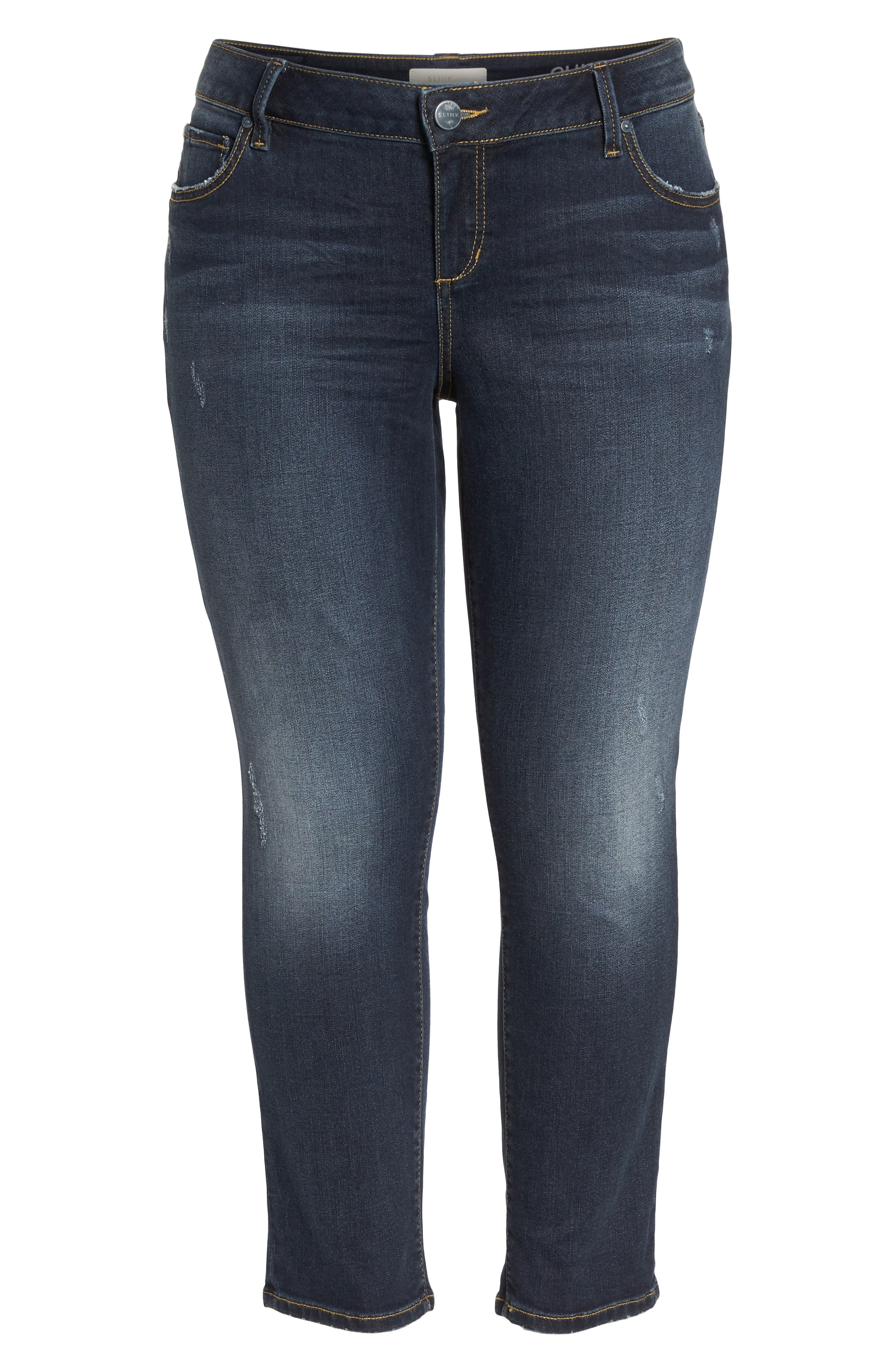 SLINK JEANS, Stretch Ankle Boyfriend Jeans, Alternate thumbnail 7, color, BELLA