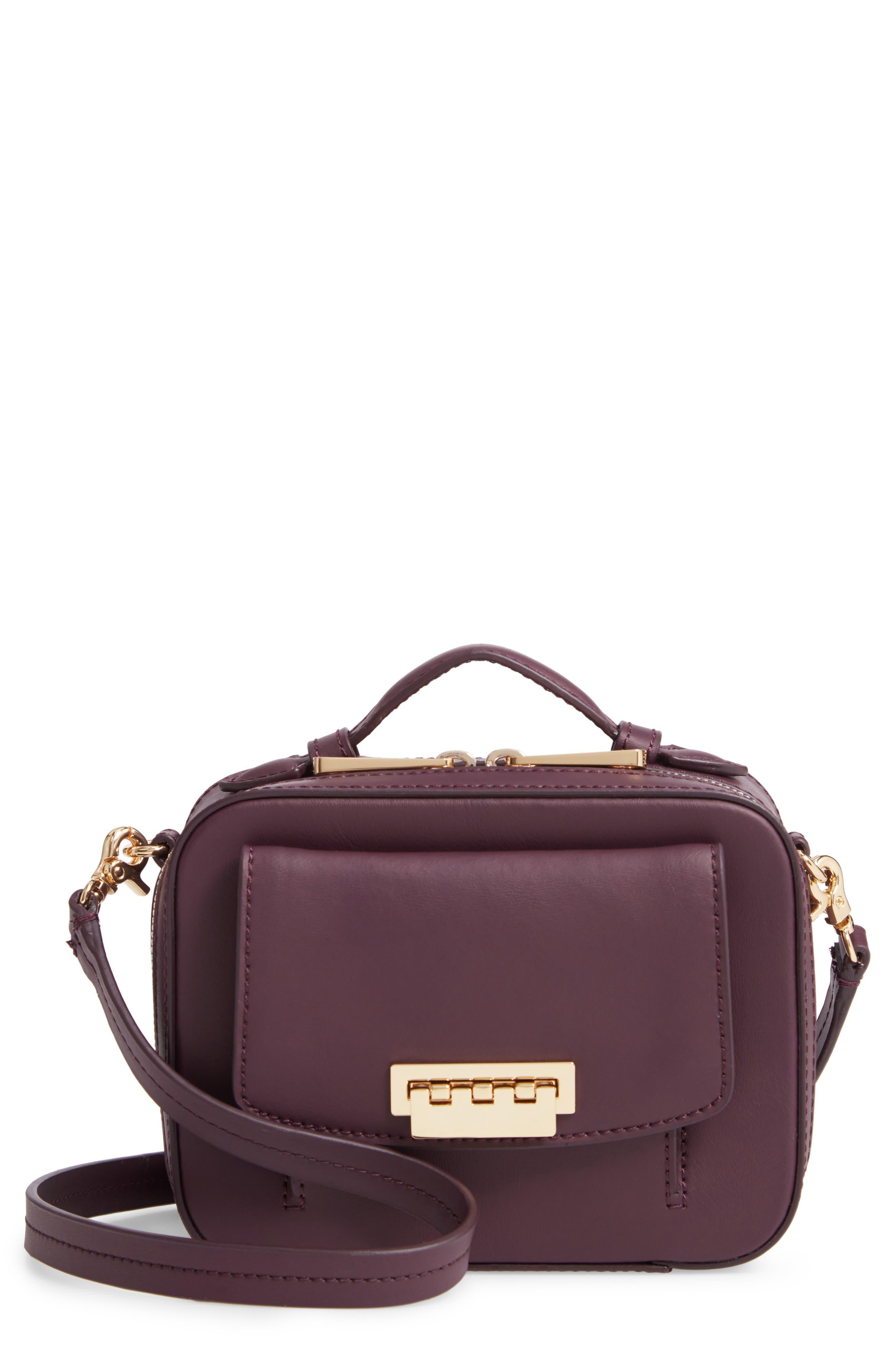 ZAC ZAC POSEN Earthette Small Box Leather Crossbody Bag, Main, color, 501
