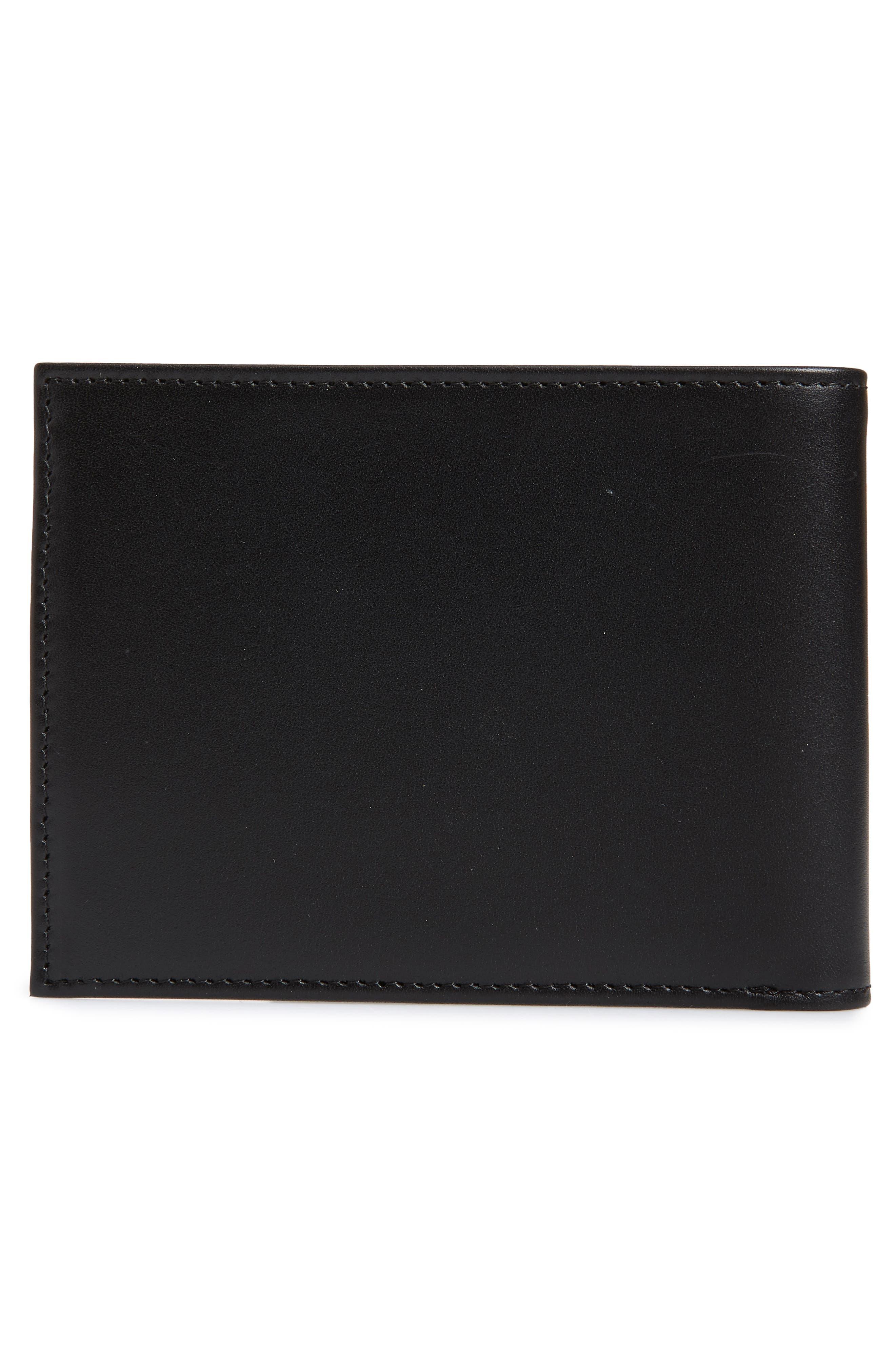 NORDSTROM MEN'S SHOP, Chelsea Leather Wallet, Alternate thumbnail 3, color, BLACK