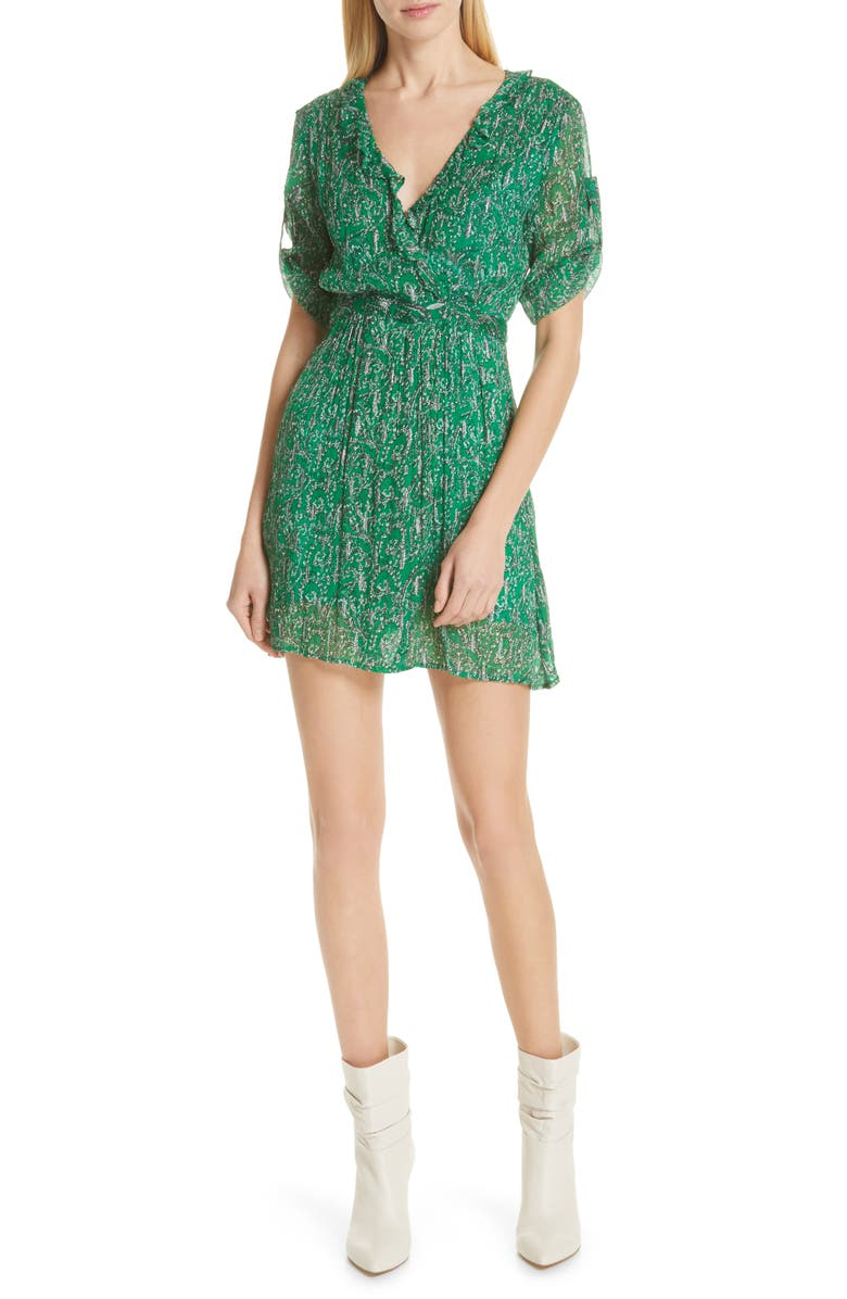 Ba&sh Dresses CLEM METALLIC PAISLEY DRESS